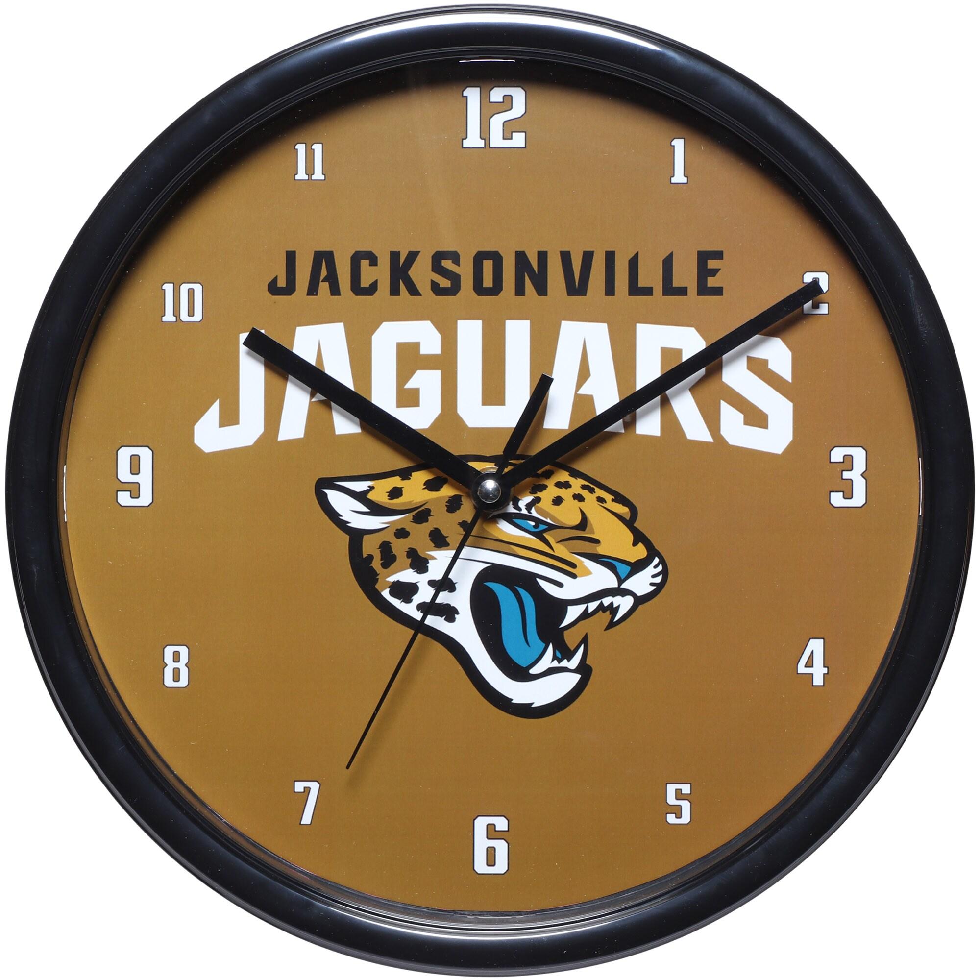 "Jacksonville Jaguars 12"" Black Rim Wall Clock"