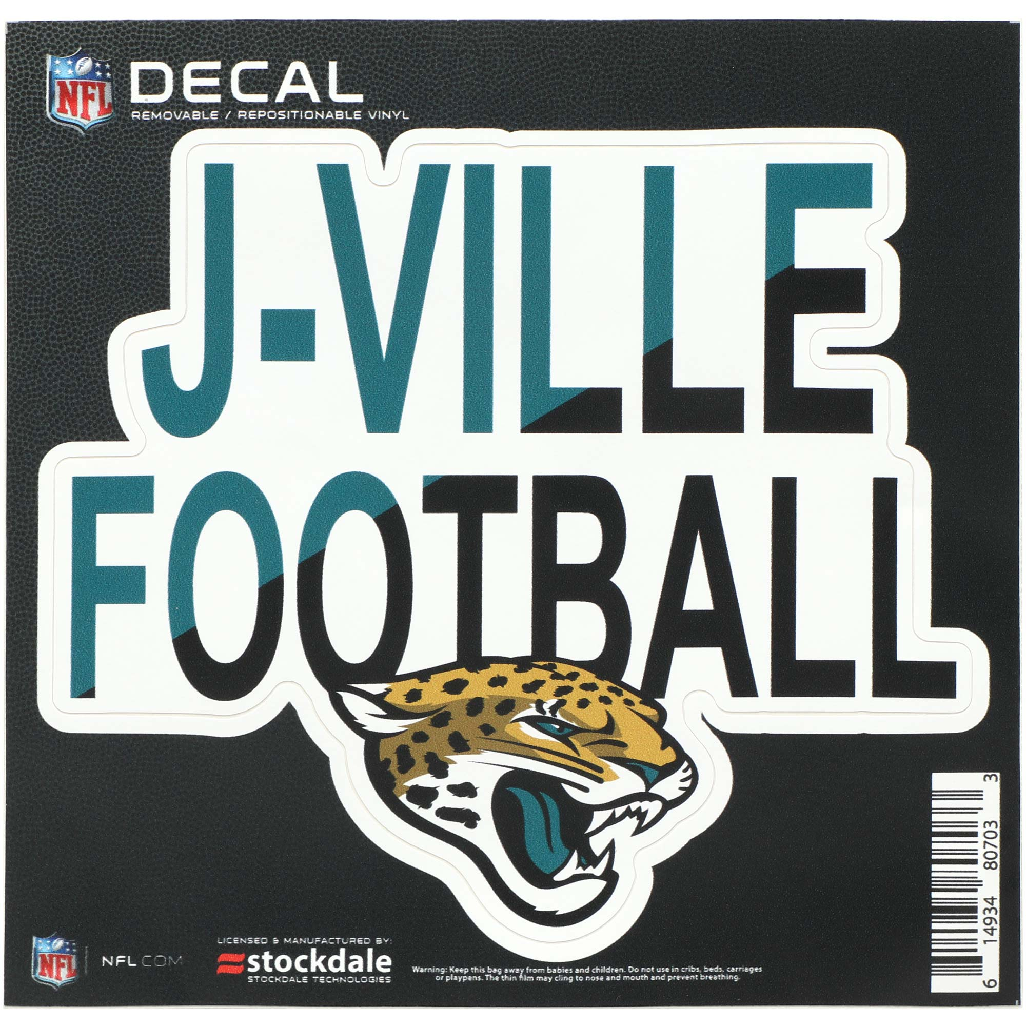 "Jacksonville Jaguars 6"" x 6"" Full Color Xpression Repositionable Decal"