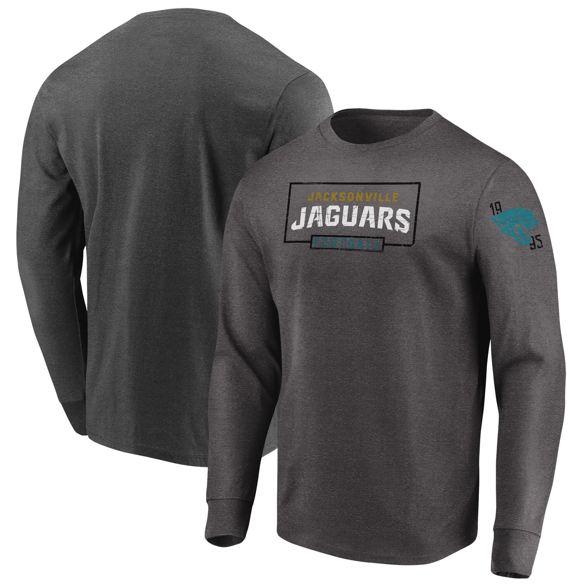 Jacksonville Jaguars Majestic Big & Tall Kick Return Long Sleeve T-Shirt - Heathered Charcoal