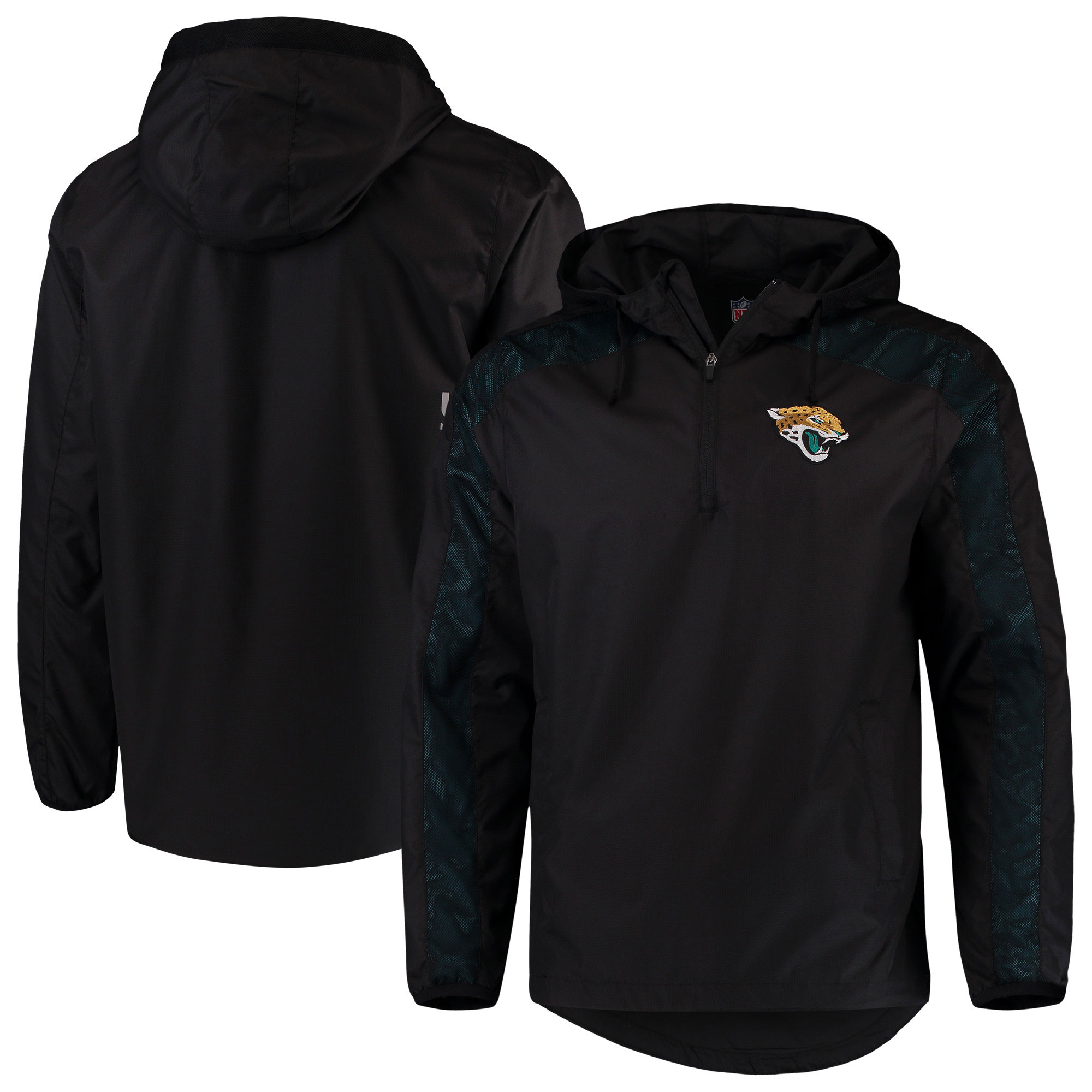 Jacksonville Jaguars G-III Sports by Carl Banks Lineup Hooded Half-Zip Jacket - Black