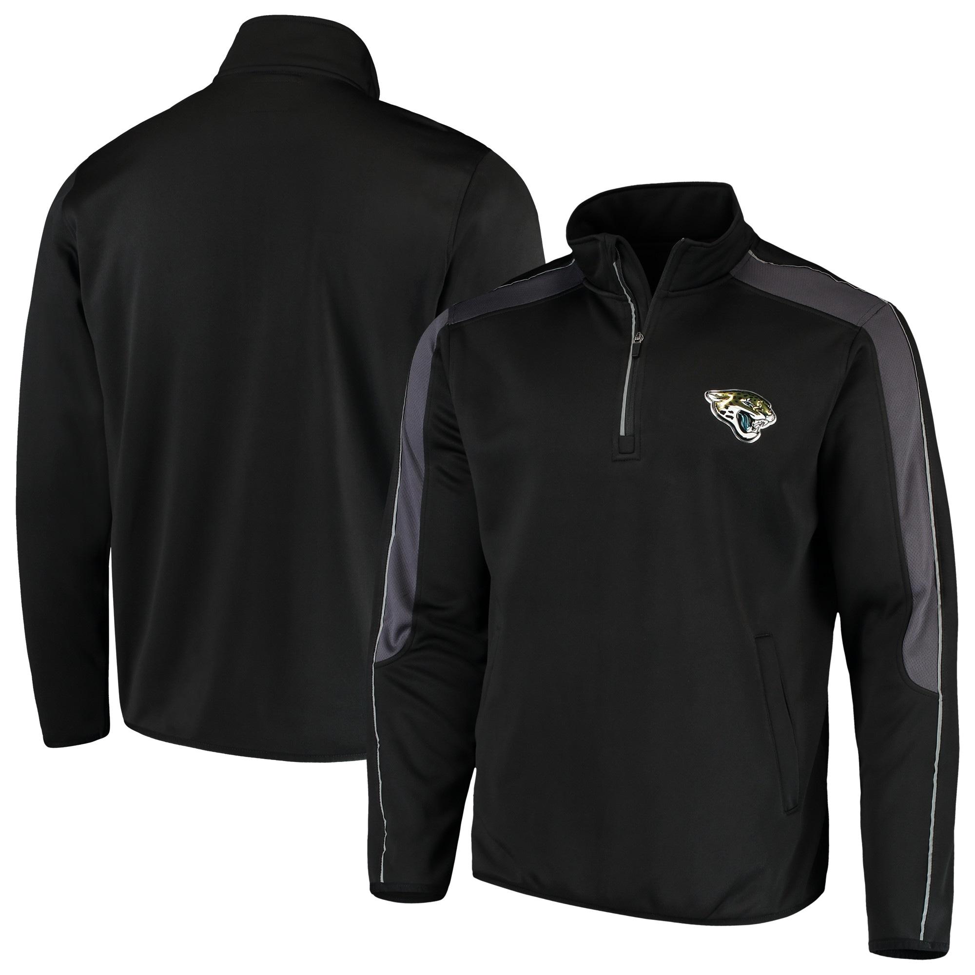 Jacksonville Jaguars G-III Sports by Carl Banks I Formation Quarter-Zip Pullover Jacket - Black