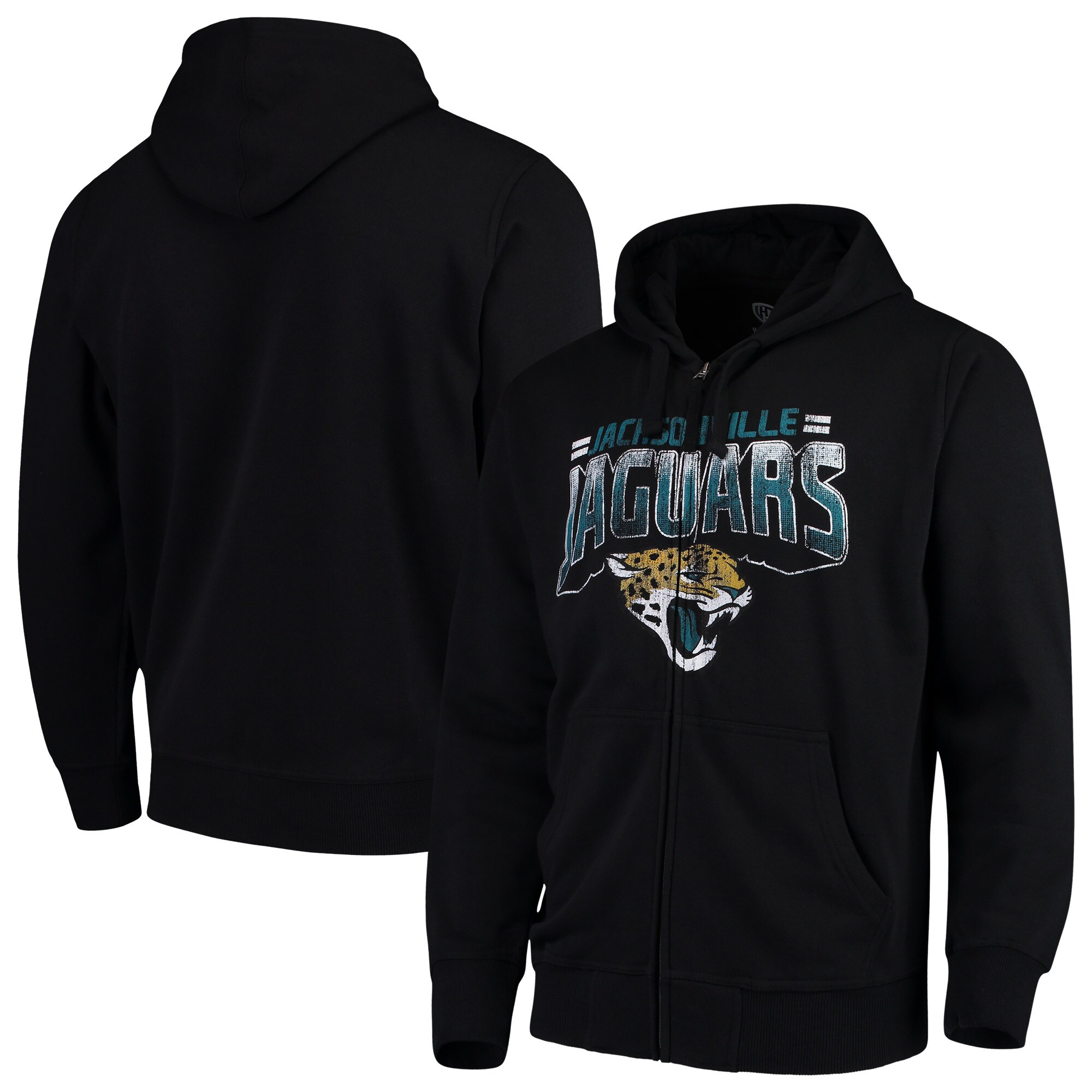 Jacksonville Jaguars G-III Sports by Carl Banks Perfect Season Full-Zip Hoodie - Black