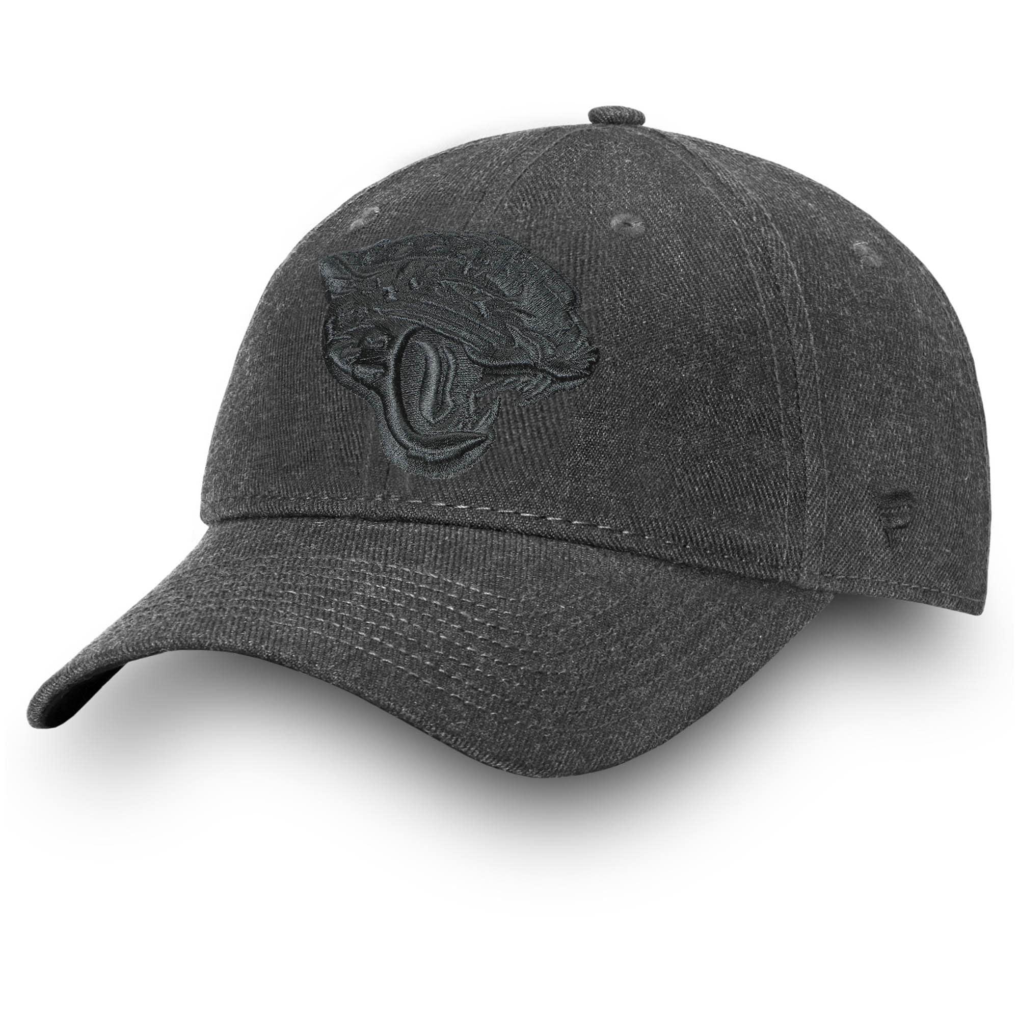 Jacksonville Jaguars NFL Pro Line by Fanatics Branded Logo Team Haze Adjustable Snapback Hat - Heathered Black