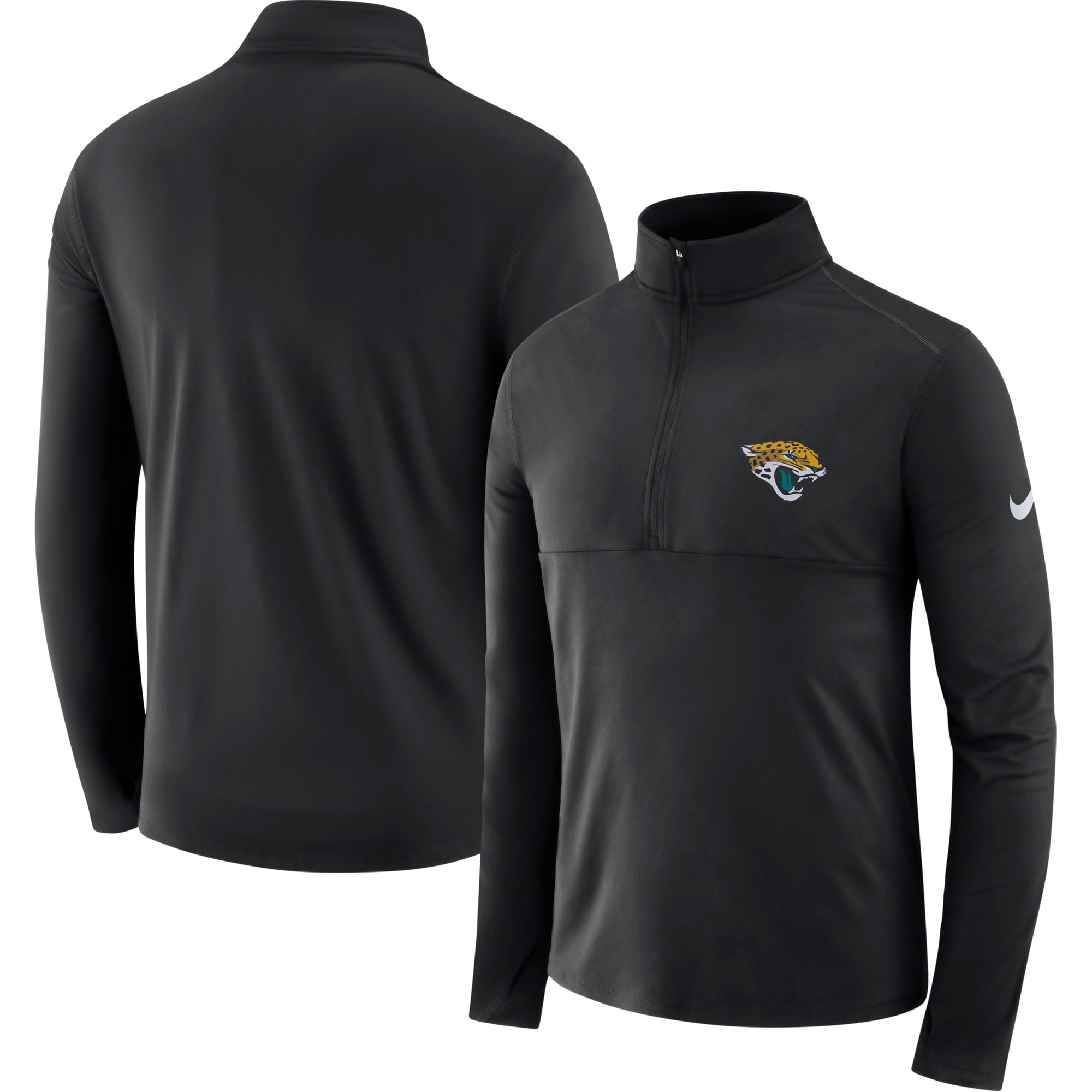 Jacksonville Jaguars Nike Fan Gear Element Half-Zip Performance Jacket - Black
