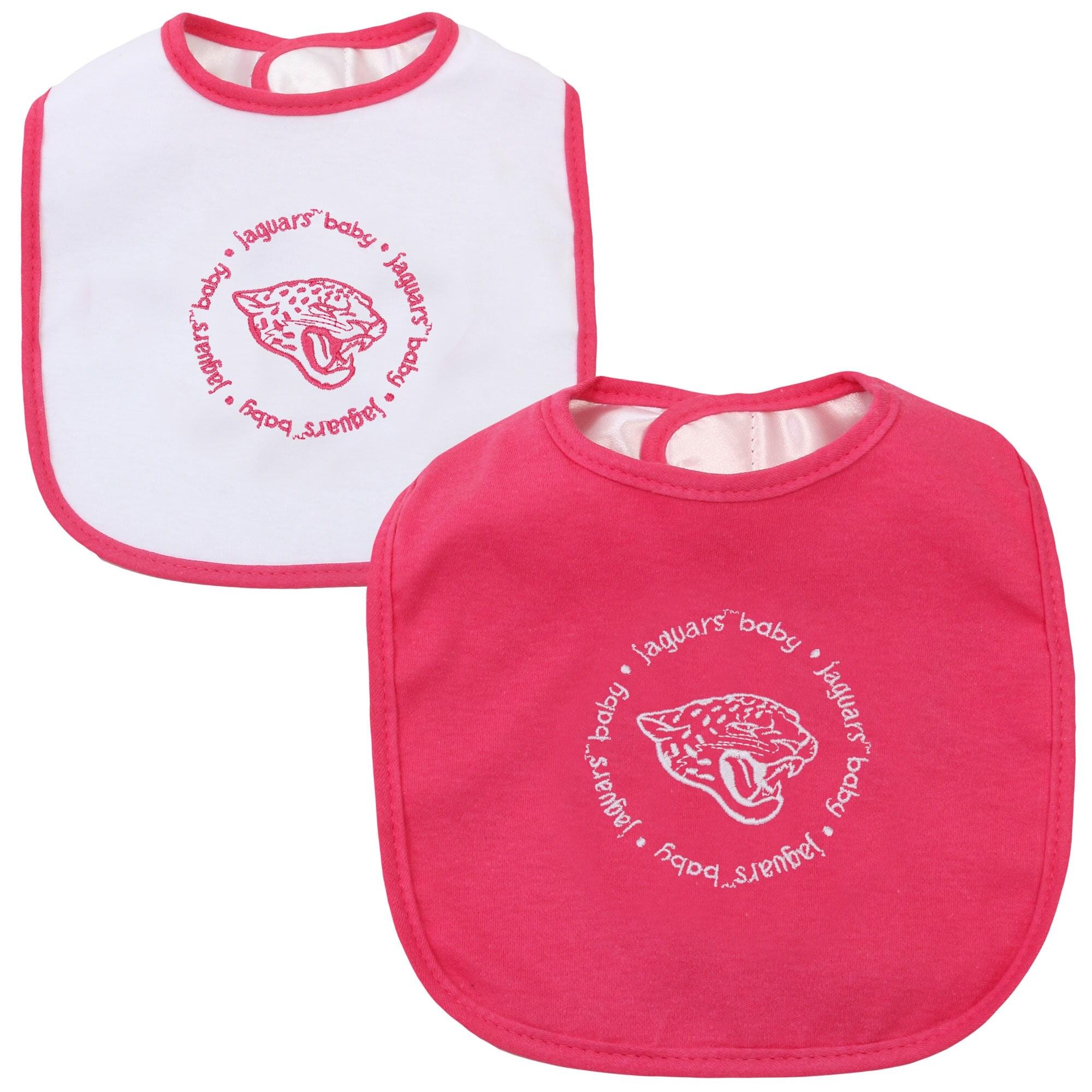 Infant Jacksonville Jaguars Pink/White 2-Pack Baby Bibs