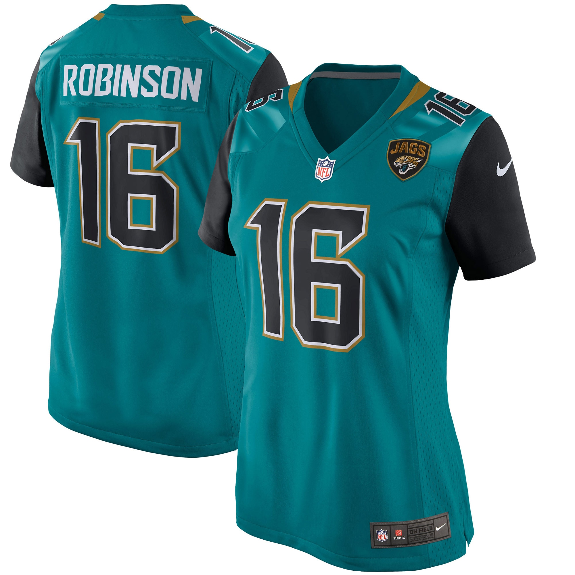 Denard Robinson Jacksonville Jaguars Nike Women's Game Jersey - Teal