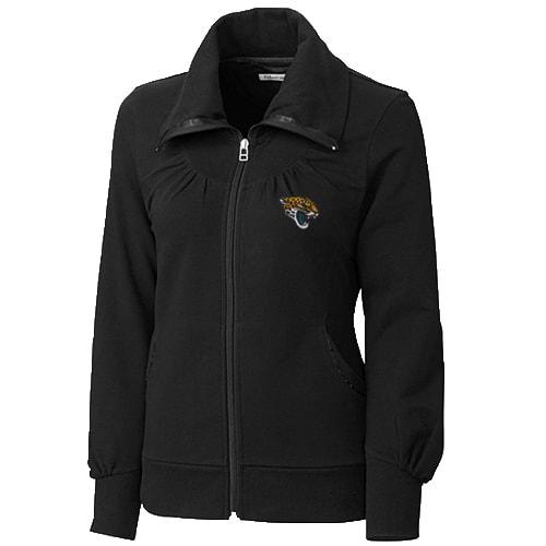 Jacksonville Jaguars Cutter & Buck Women's Vancouver Full Zip Sweatshirt - Black