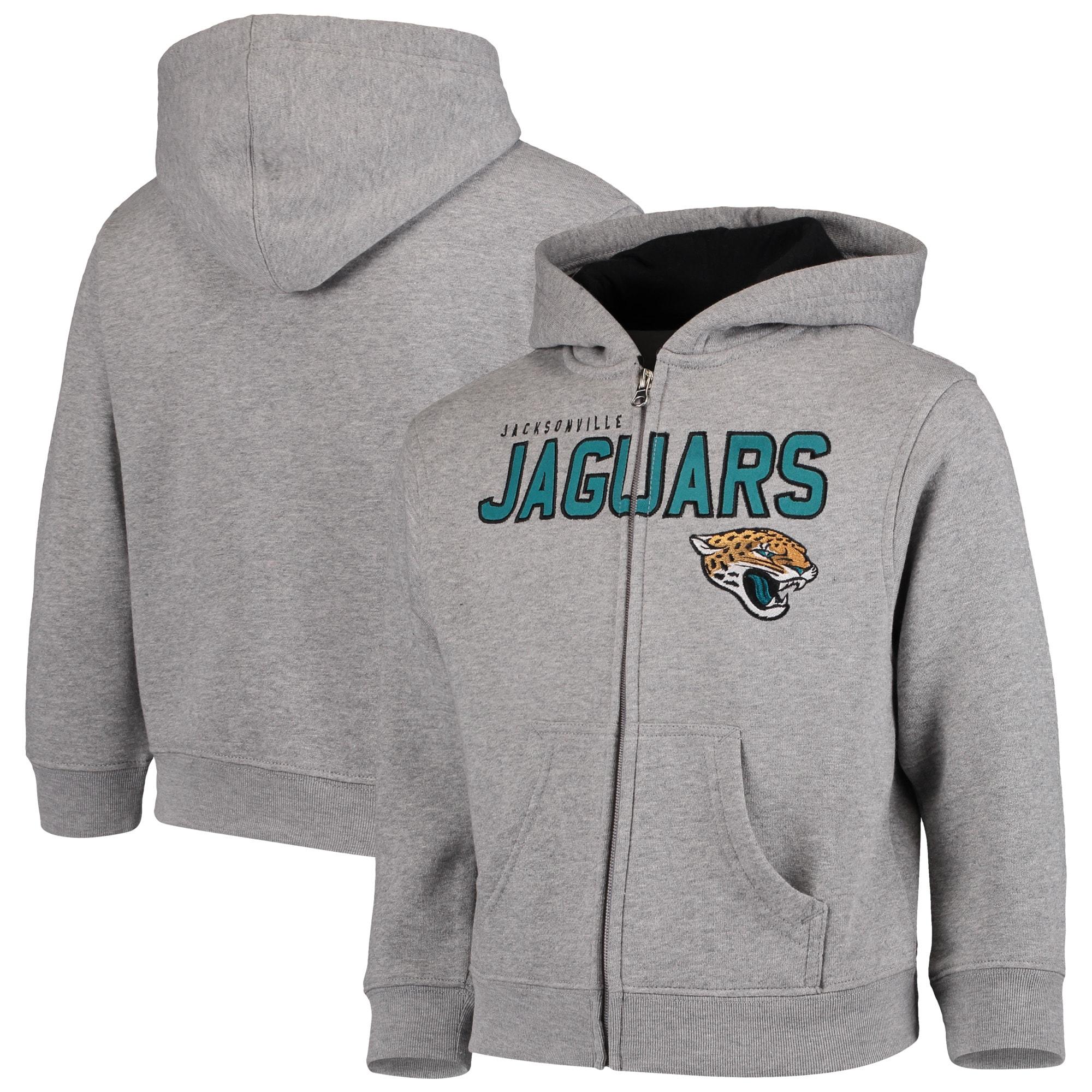 Jacksonville Jaguars Preschool Fan Gear Stated Full-Zip Hoodie - Gray