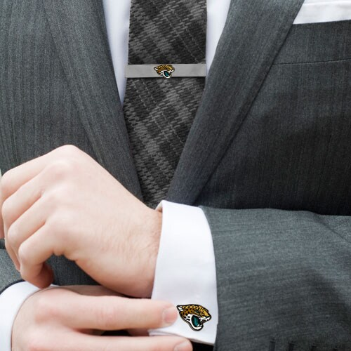 Jacksonville Jaguars Tie Bar & Cufflinks Set