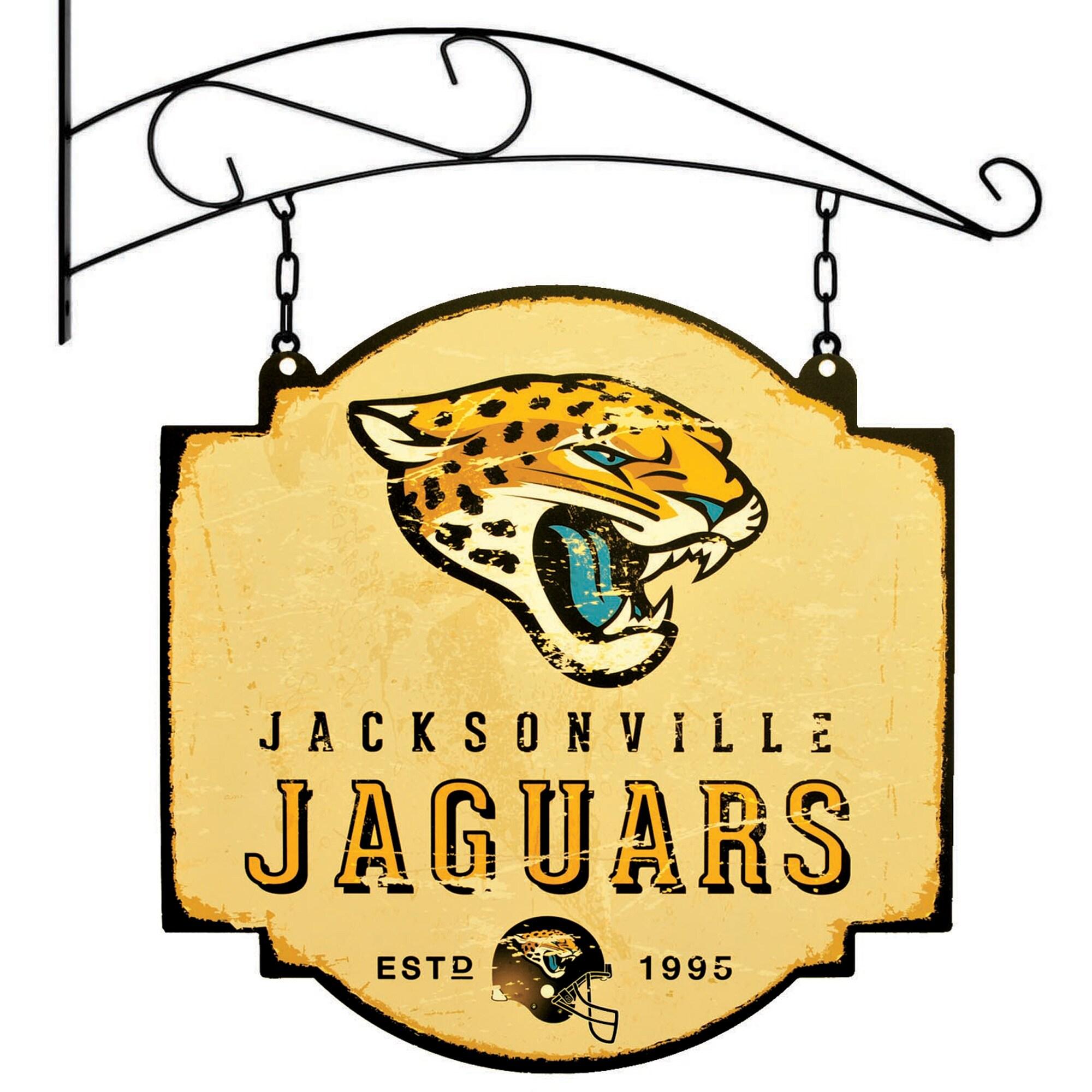 "Jacksonville Jaguars 16"" x 16"" Tavern Sign - Cream"