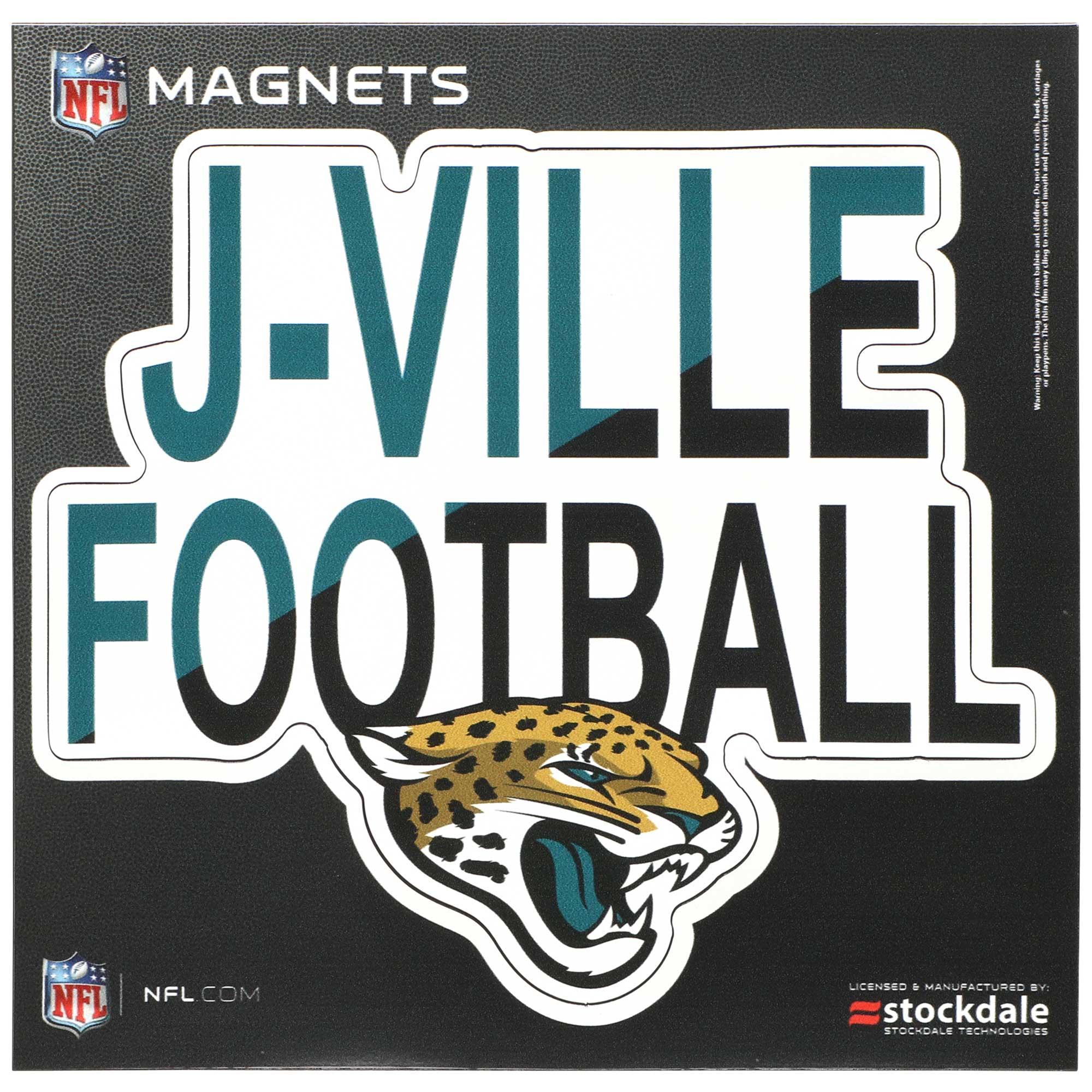 """Jacksonville Jaguars 6"""" x 6"""" Xpression Logo Full Color Car Magnet"""