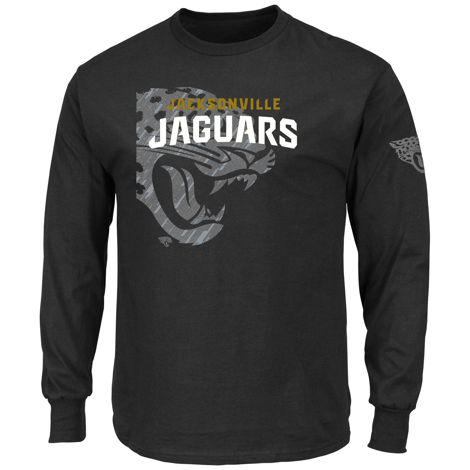 Jacksonville Jaguars Majestic Big & Tall Elite Reflective Long Sleeve T-Shirt - Black
