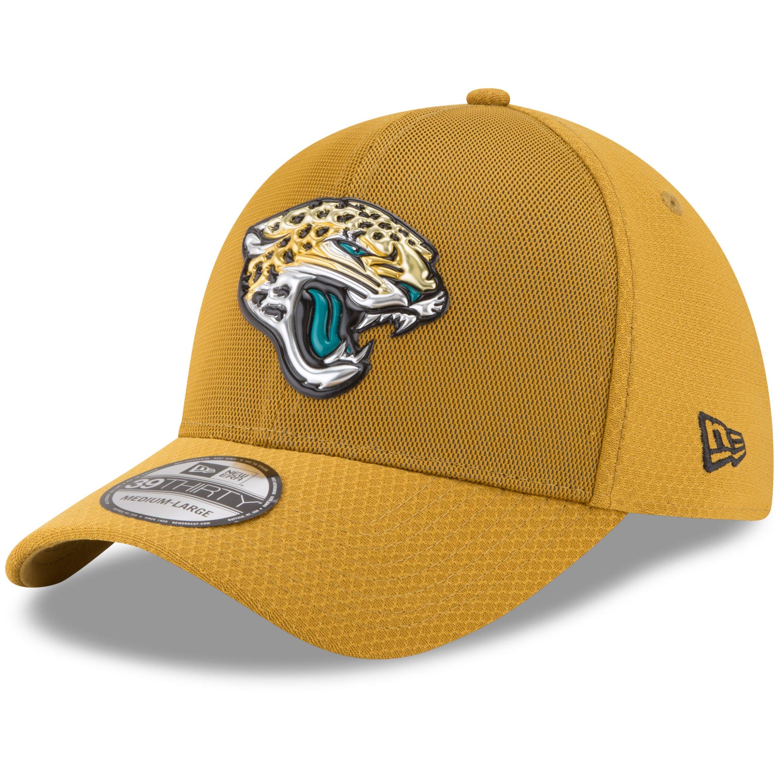 Jacksonville Jaguars New Era 2017 Color Rush 39THIRTY Flex Hat - Gold