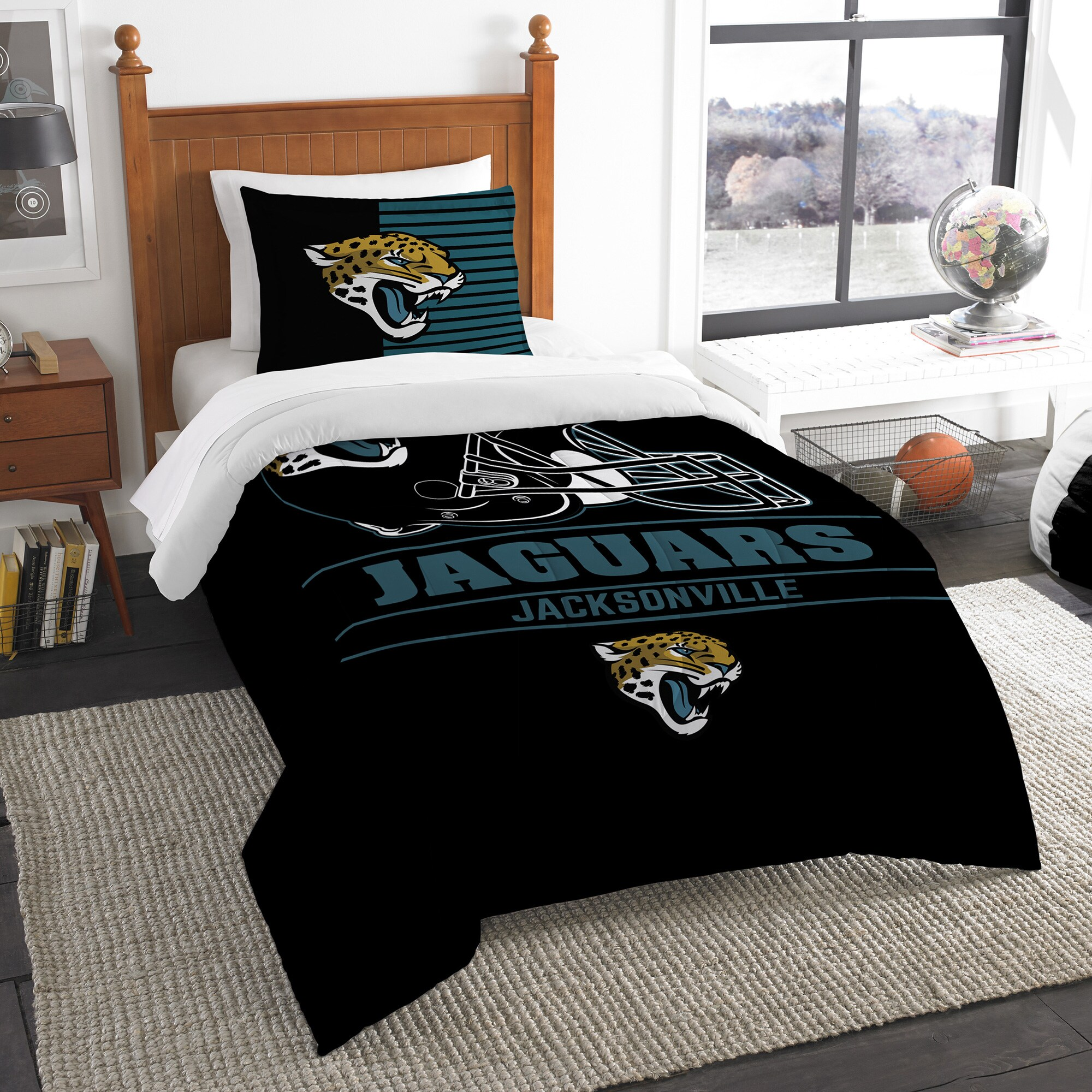 Jacksonville Jaguars The Northwest Company NFL Draft Twin Comforter Set