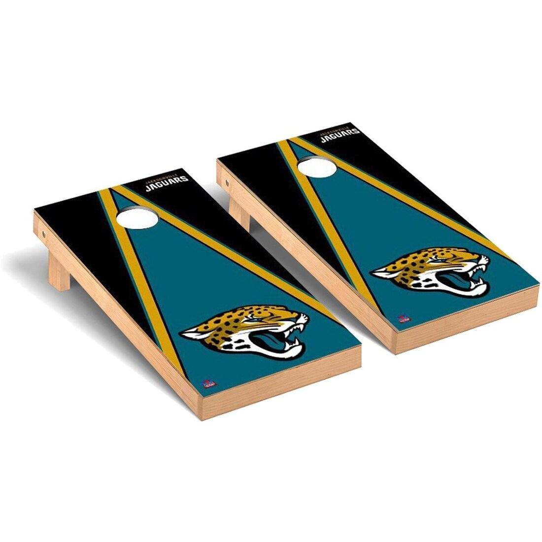 Jacksonville Jaguars 2' x 4' Triangle Cornhole Board Tailgate Toss Set