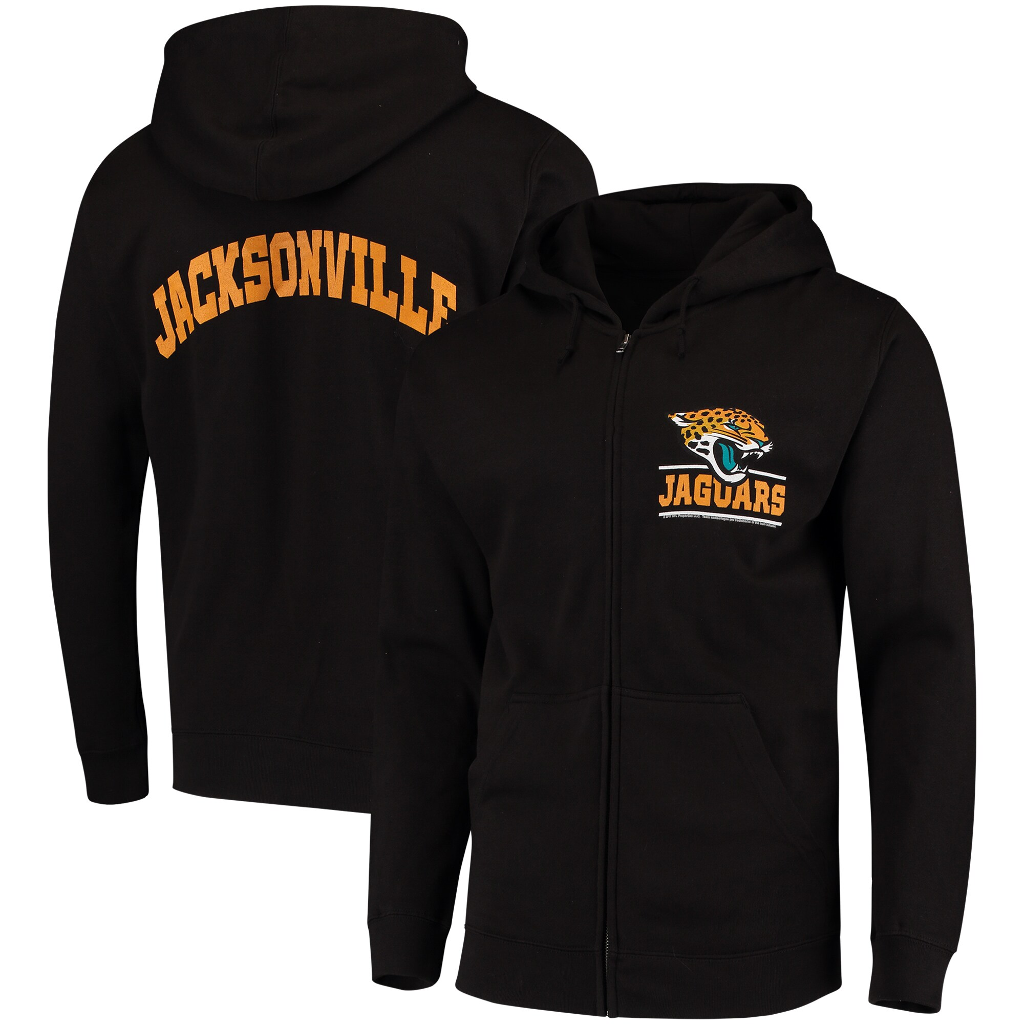 Jacksonville Jaguars Quarterback Full-Zip Hoodie - Black