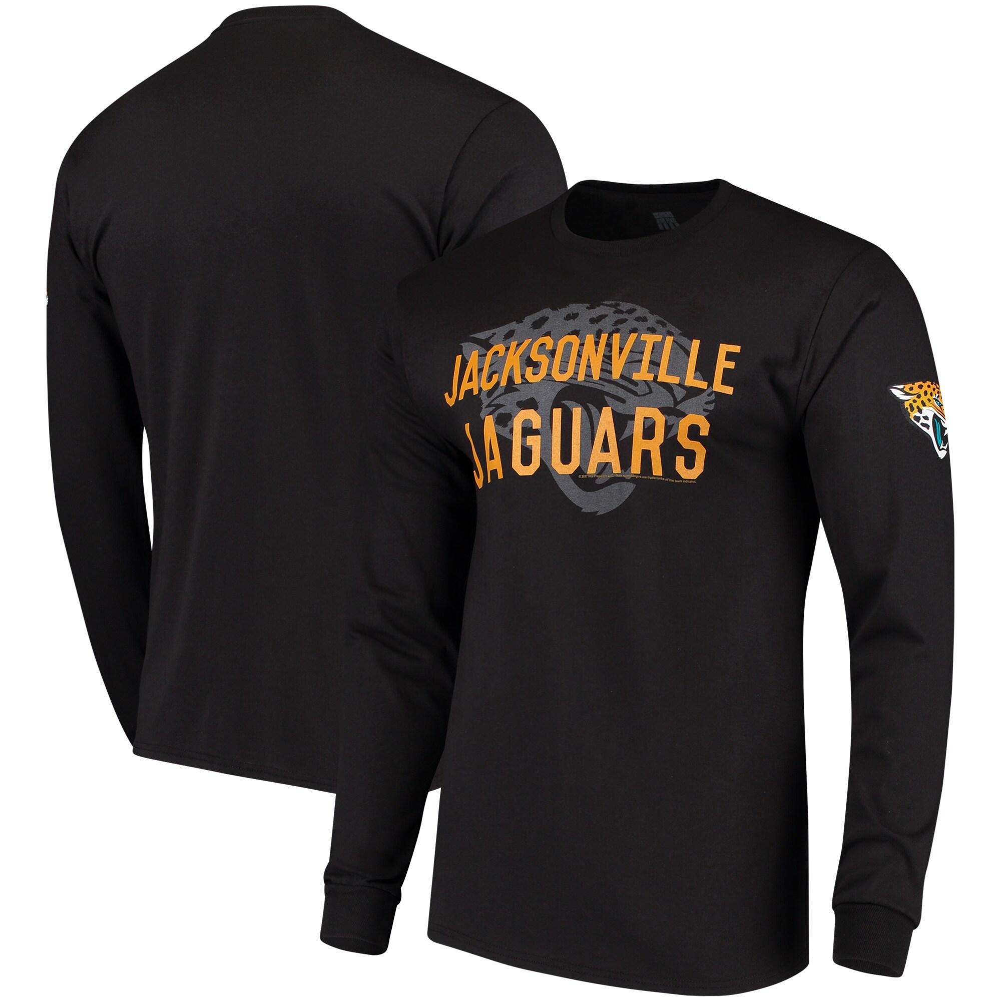 Jacksonville Jaguars Fade Route Long Sleeve T-Shirt - Black