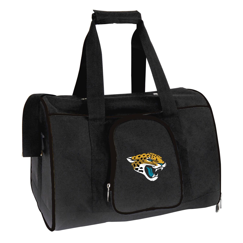 "Jacksonville Jaguars Small 16"" Pet Carrier - Black"