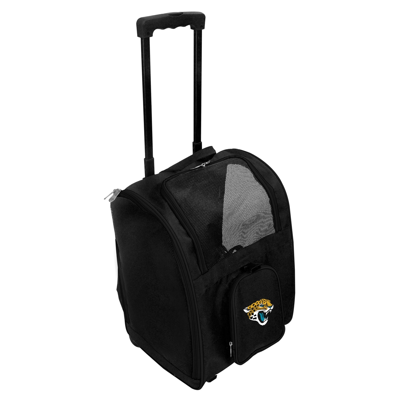 Jacksonville Jaguars 2-Wheeled Roller Pet Carrier - Black