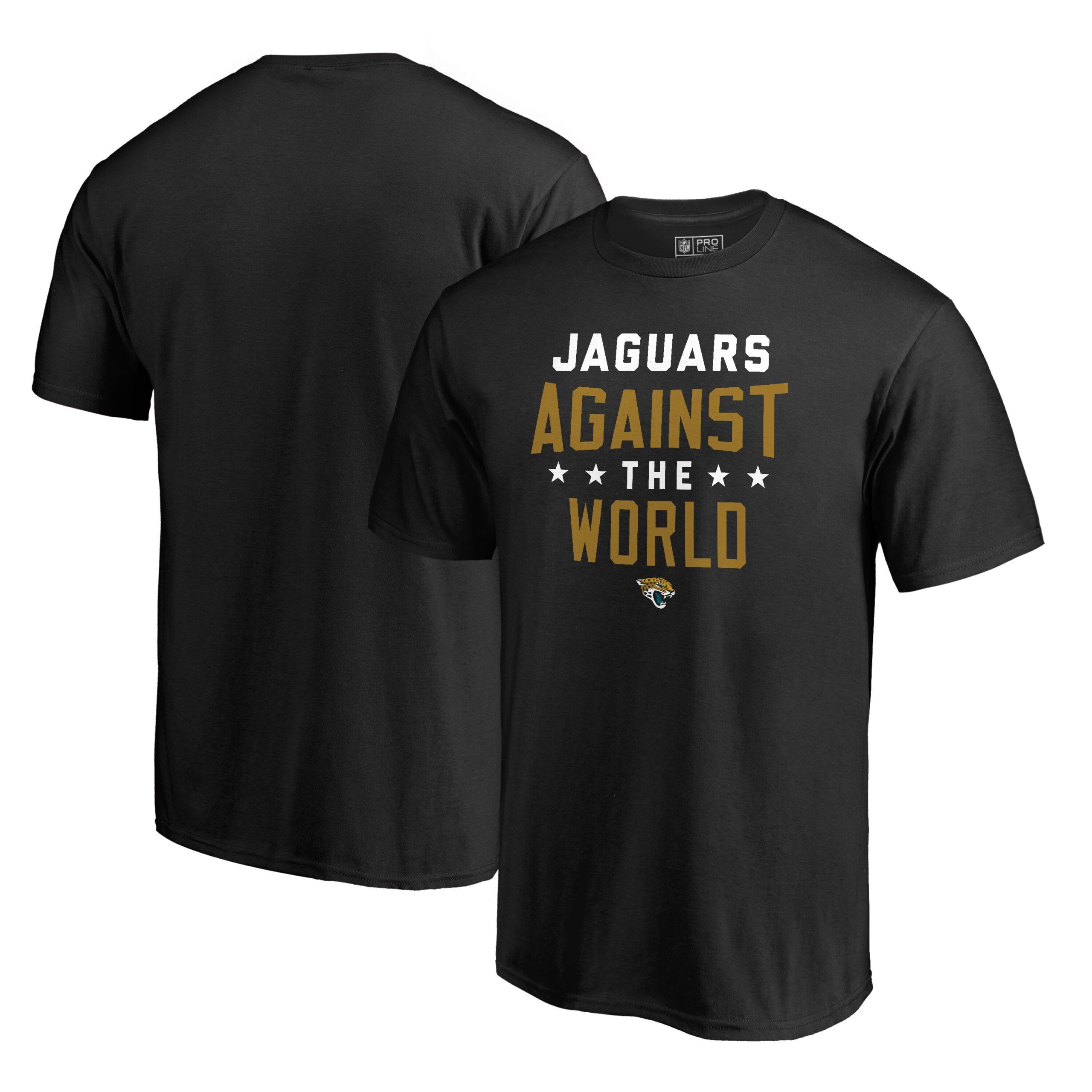 Jacksonville Jaguars NFL Pro Line by Fanatics Branded Against The World T-Shirt - Black