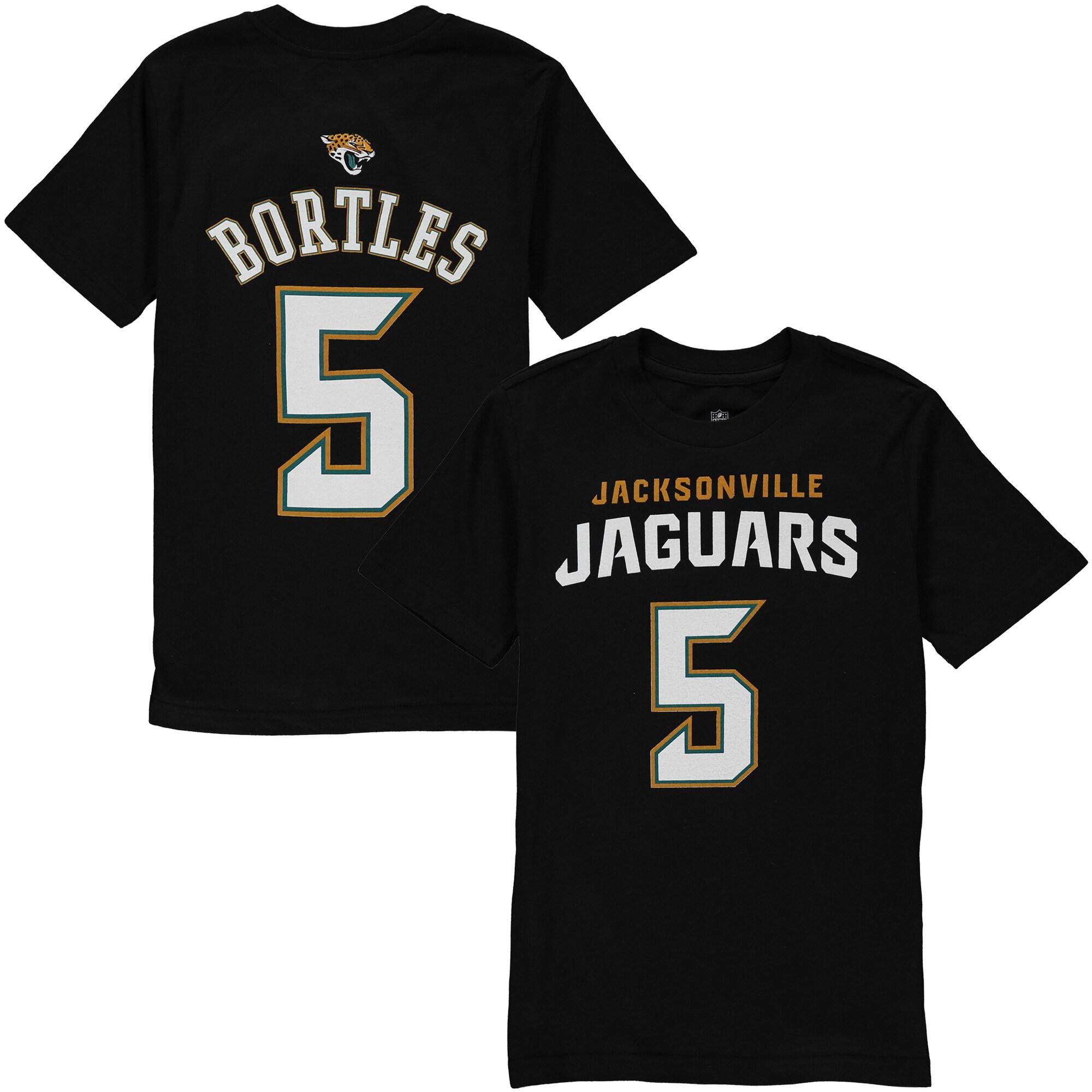 Blake Bortles Jacksonville Jaguars Youth Mainliner Name & Number T-Shirt - Black