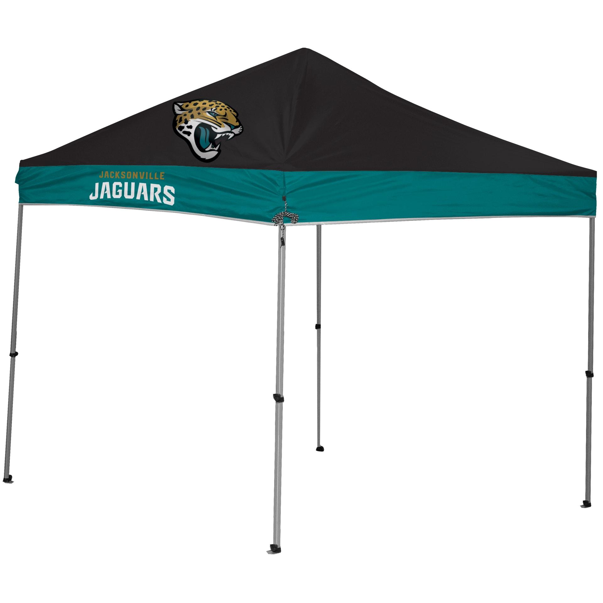 Jacksonville Jaguars 9' x 9' 2-Tone Straight Leg Canopy Tent