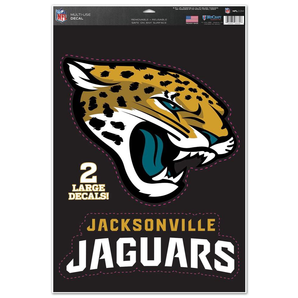 "Jacksonville Jaguars WinCraft 11"" x 17"" Name & Logo Multi-Use Decal Sheet"