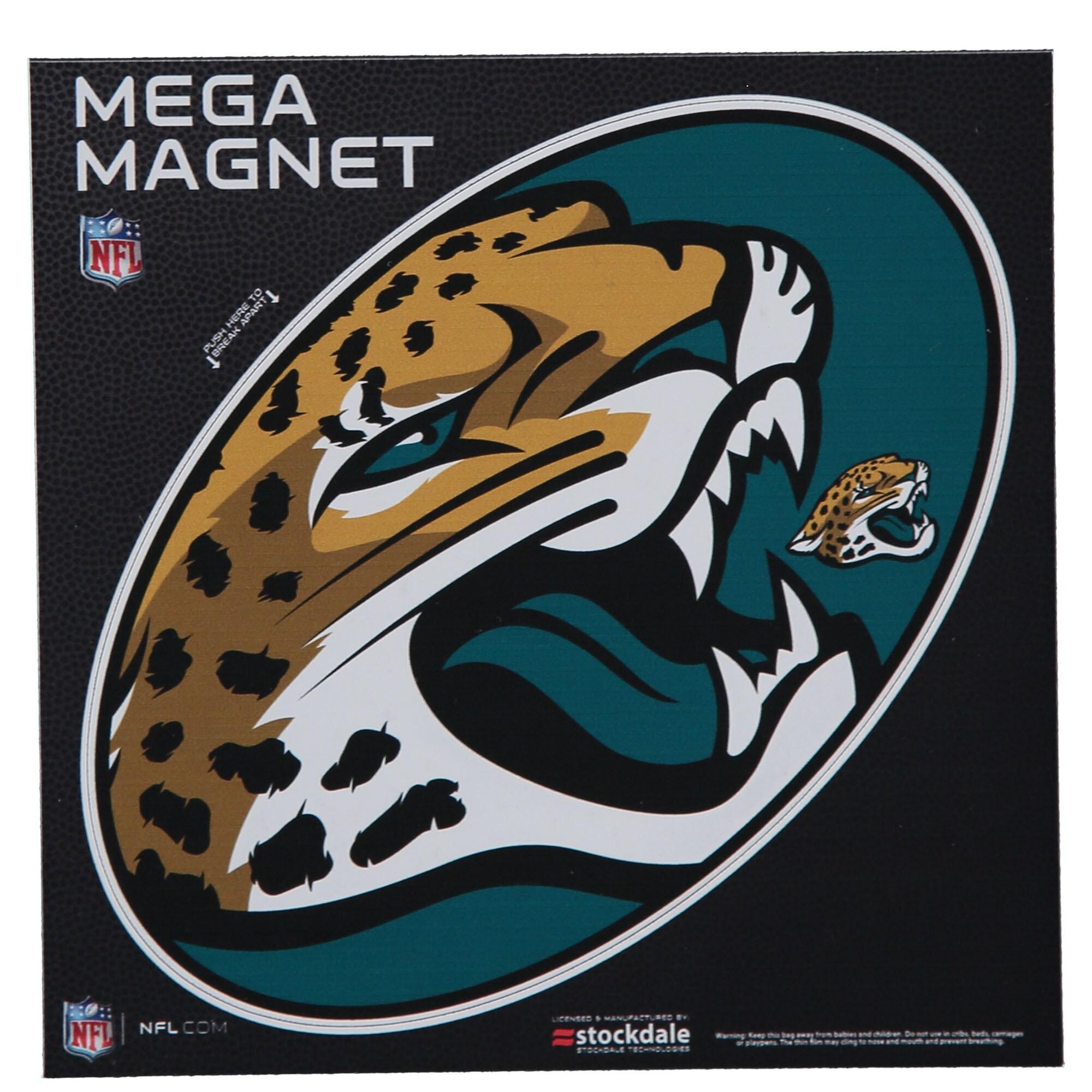 """Jacksonville Jaguars Mega 6"""" x 6"""" Oval Full Color Magnet"""
