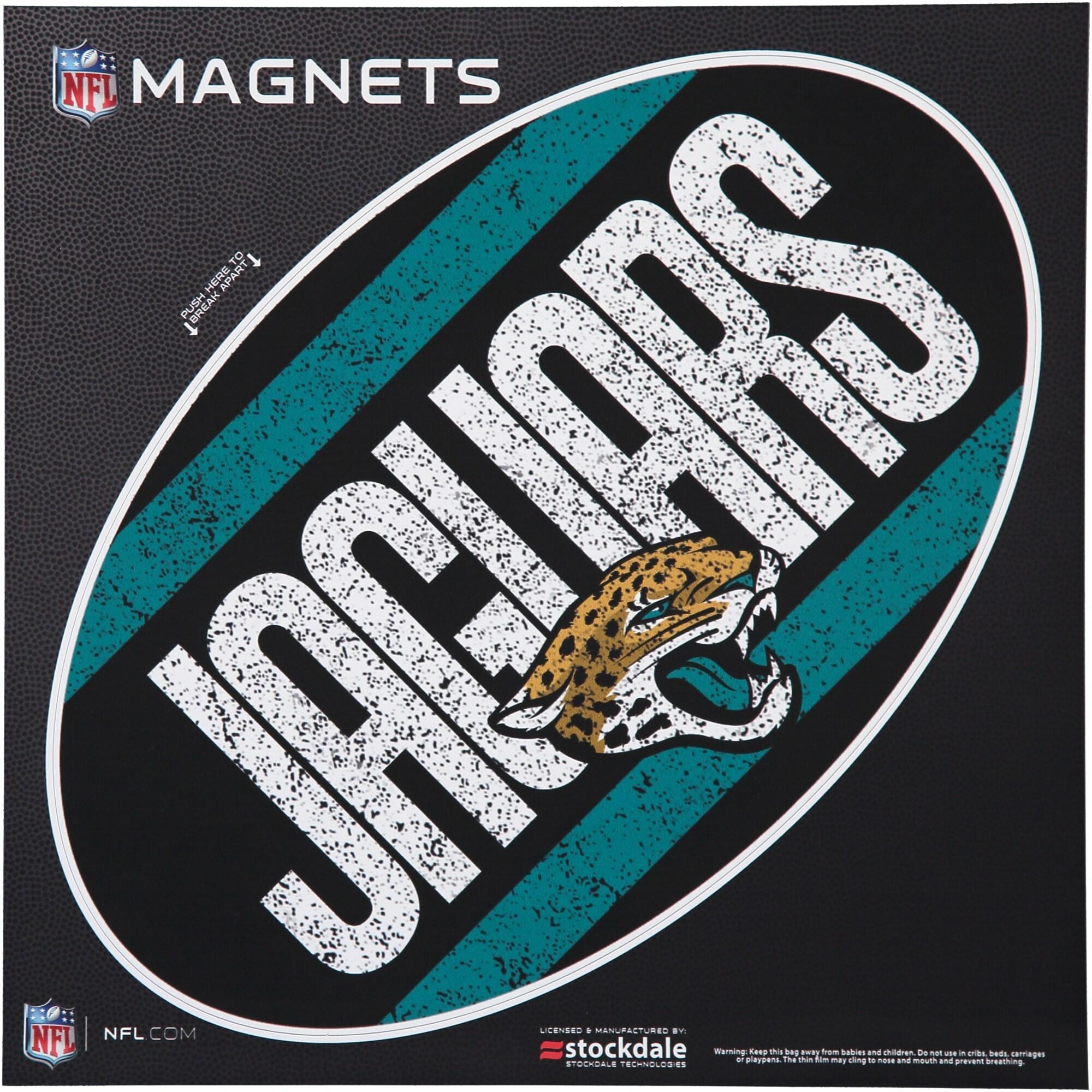 """Jacksonville Jaguars Vintage 12"""" x 12"""" Oval Full Color Magnet"""