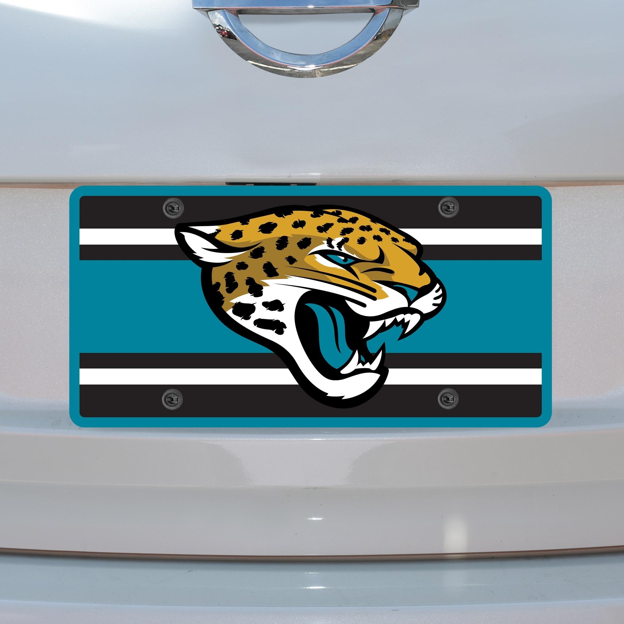 Jacksonville Jaguars Super Stripe Acrylic Cut License Plate
