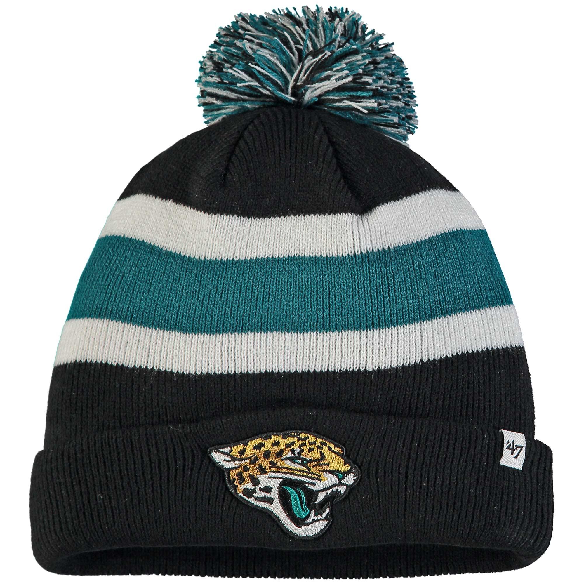 Jacksonville Jaguars '47 Breakaway Cuffed Knit Hat with Pom - Black