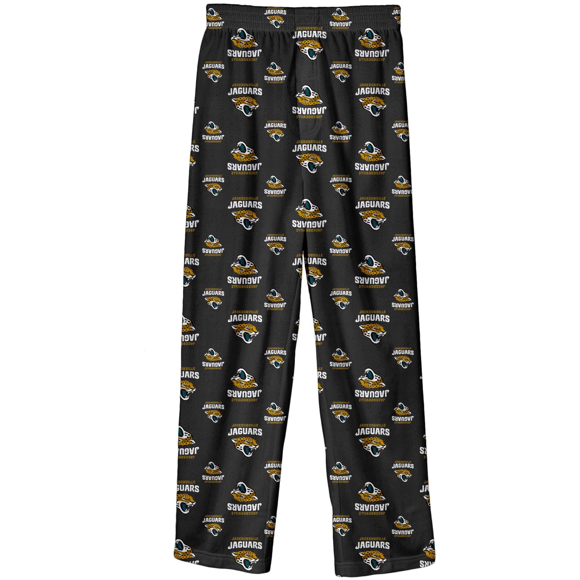 Jacksonville Jaguars Preschool All Over Printed Pajama Pants - Black