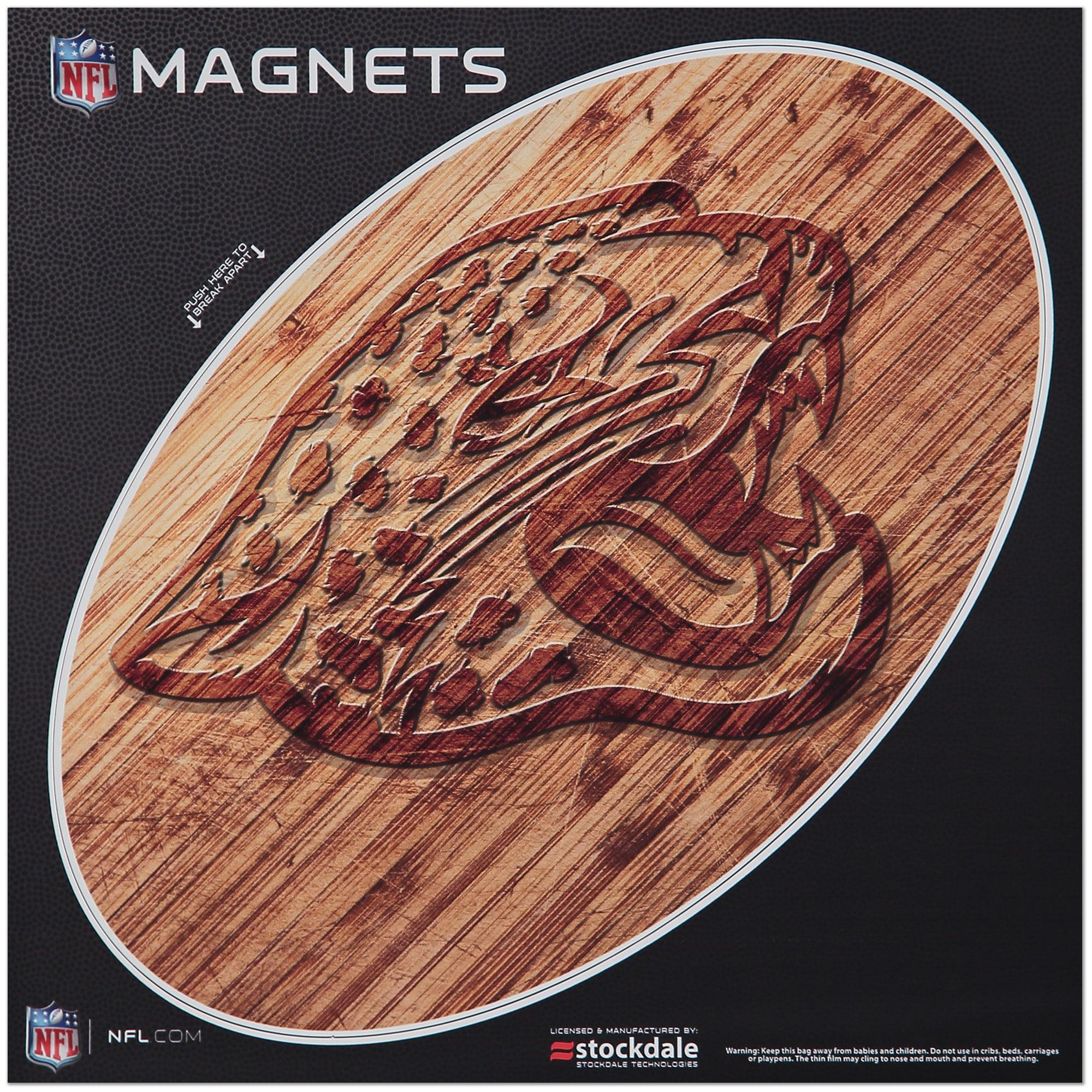 """Jacksonville Jaguars 12"""" x 12"""" Wood Design Oval Car Magnet"""