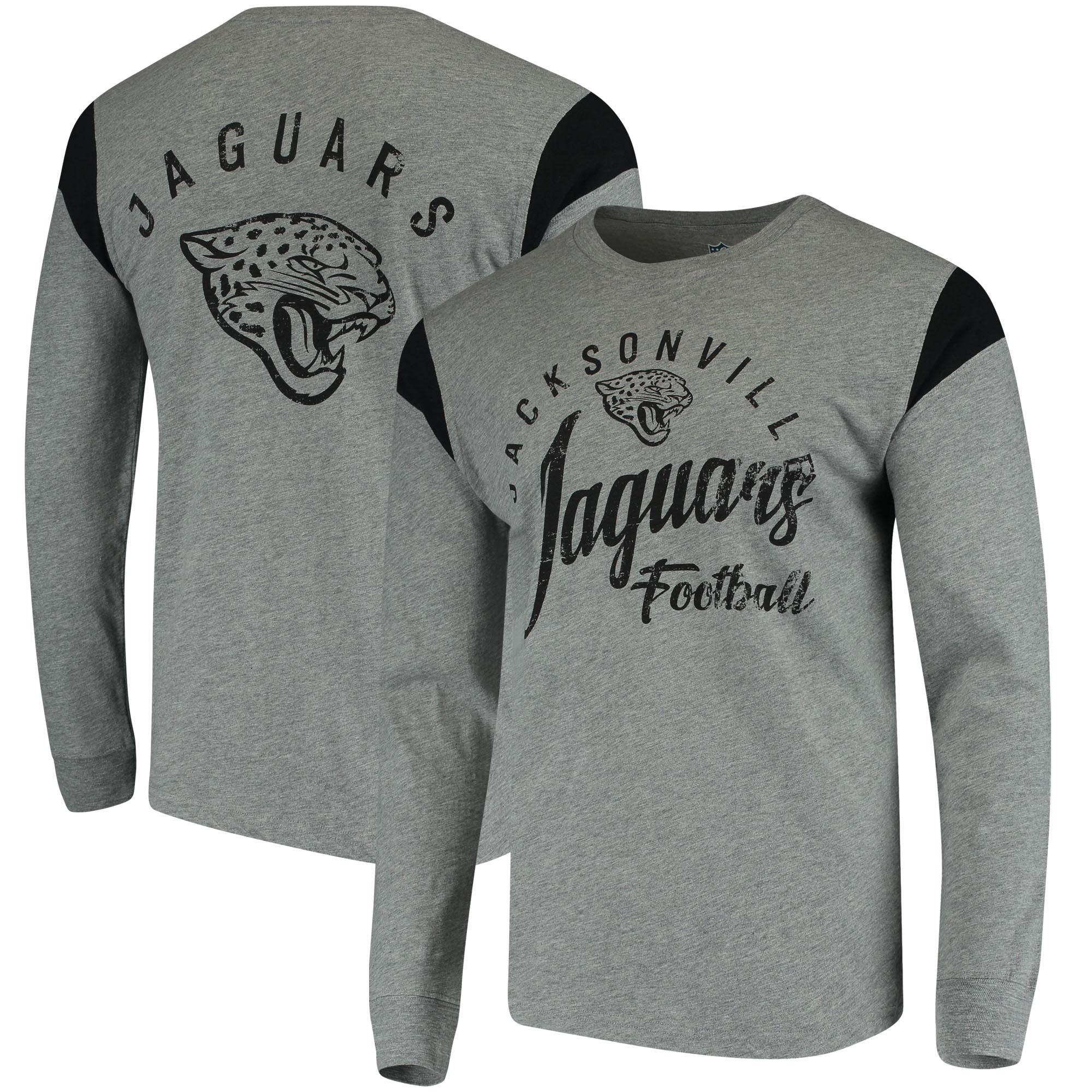 Jacksonville Jaguars Hands High Receiver Long Sleeve T-Shirt - Gray/Black