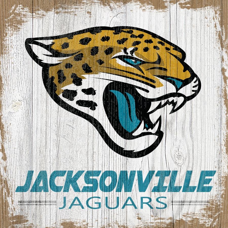 Jacksonville Jaguars 6'' x 6'' Team Logo Block