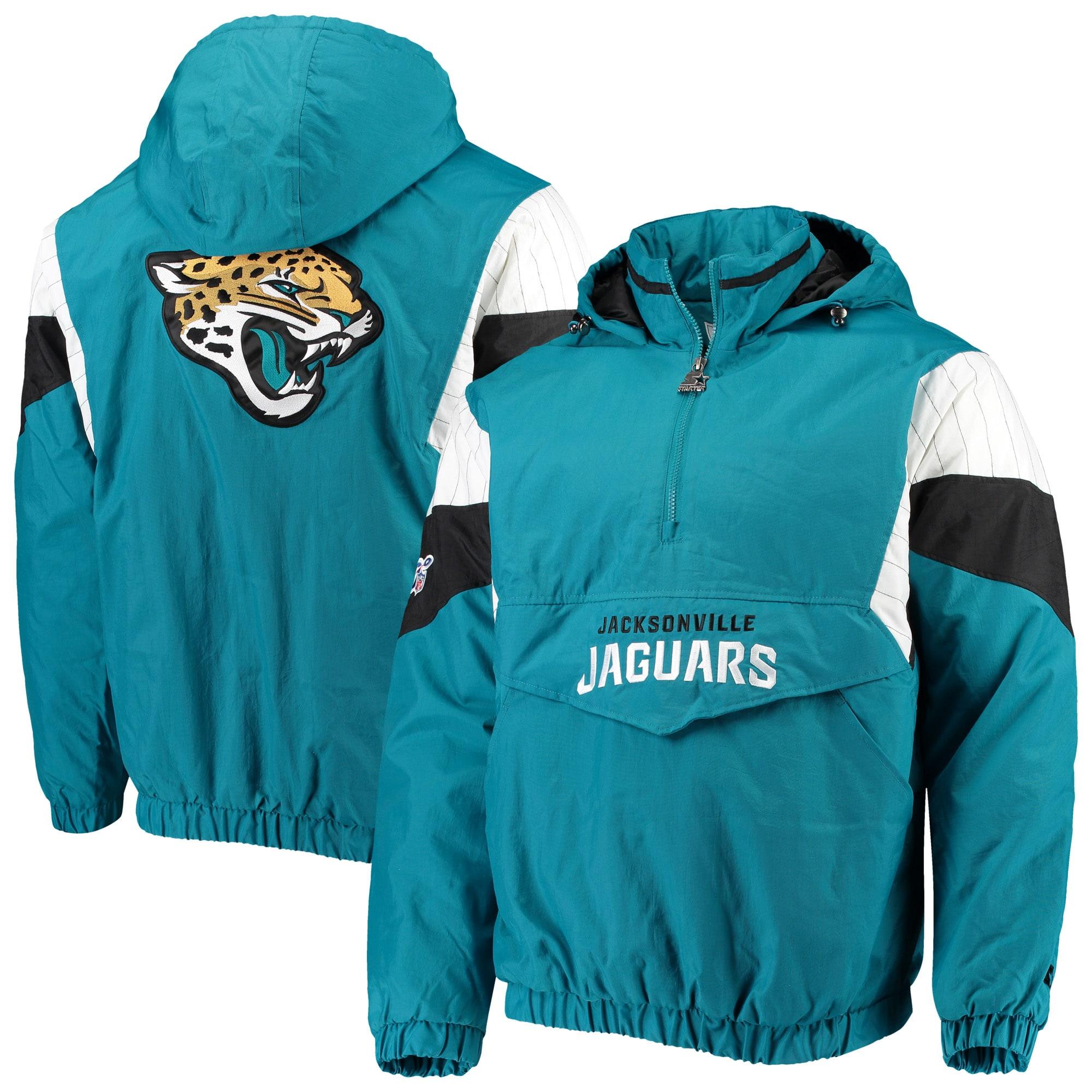 Jacksonville Jaguars Starter NFL 100 Thursday Night Lights Quarter-Zip Breakaway Jacket - Teal/Black