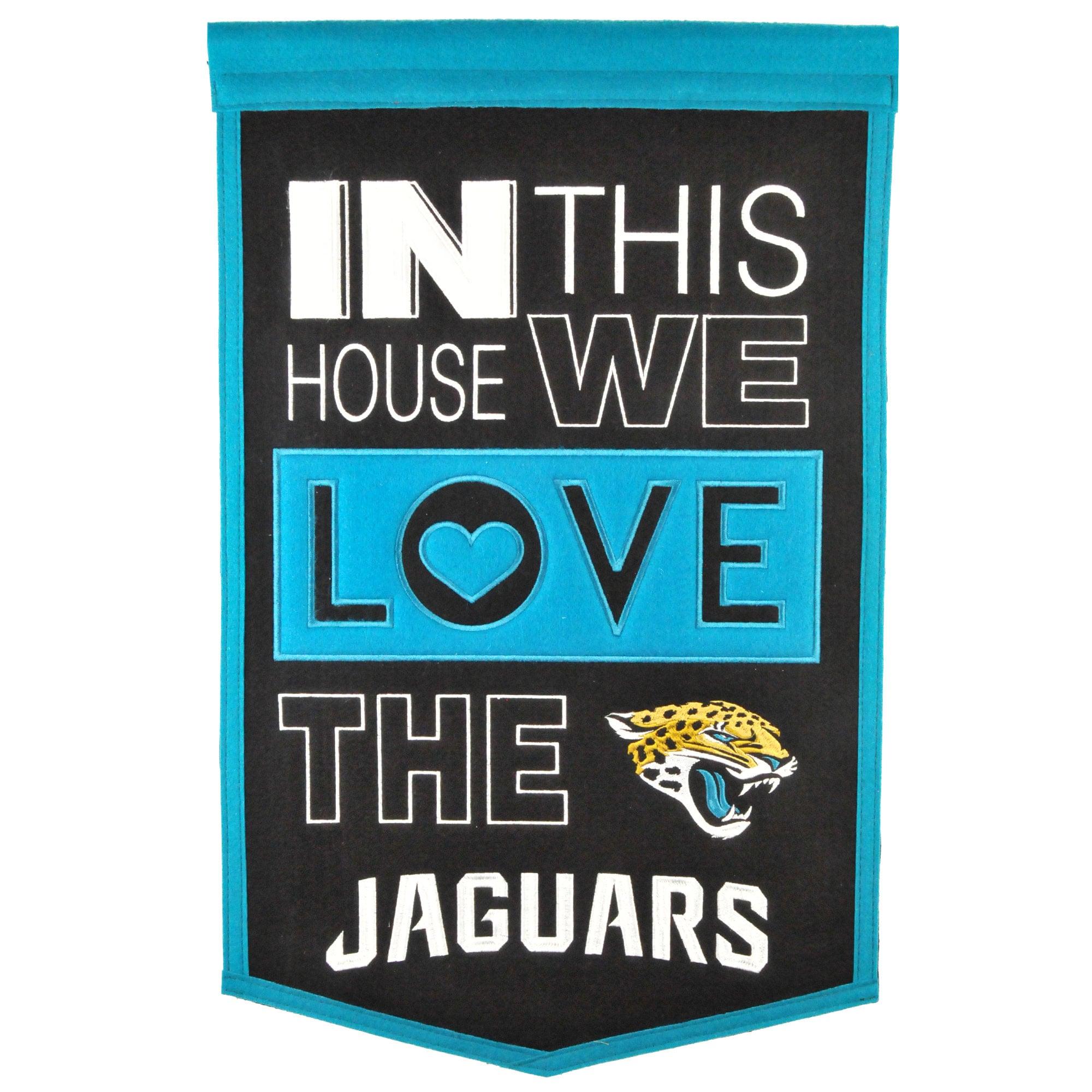 Jacksonville Jaguars 15'' x 24'' Home Banner