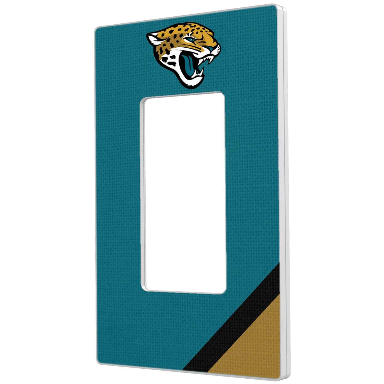 Jacksonville Jaguars Diagonal Stripe Single Rocker Light Switch Plate