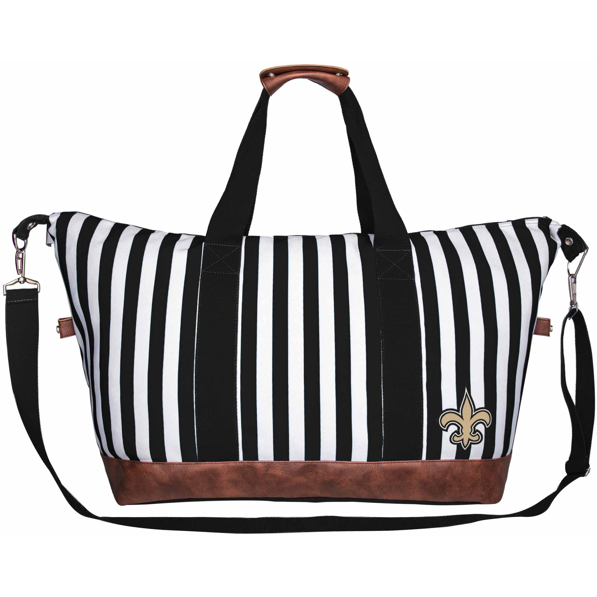 New Orleans Saints Women's Striped Weekender Bag