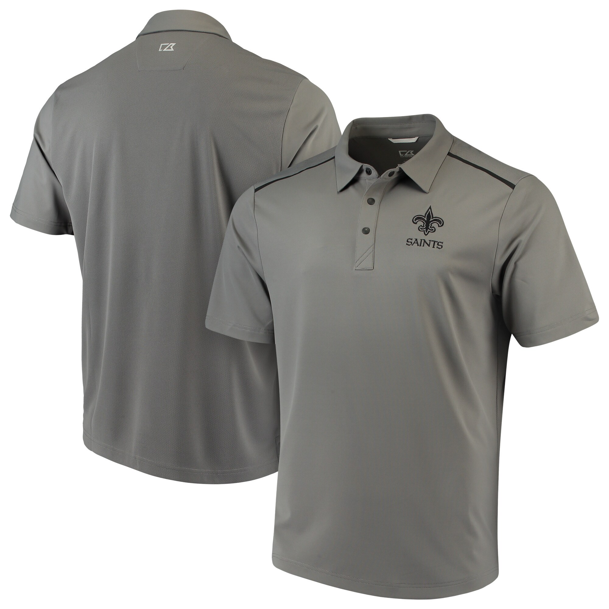New Orleans Saints Cutter & Buck Fusion Polo - Gray