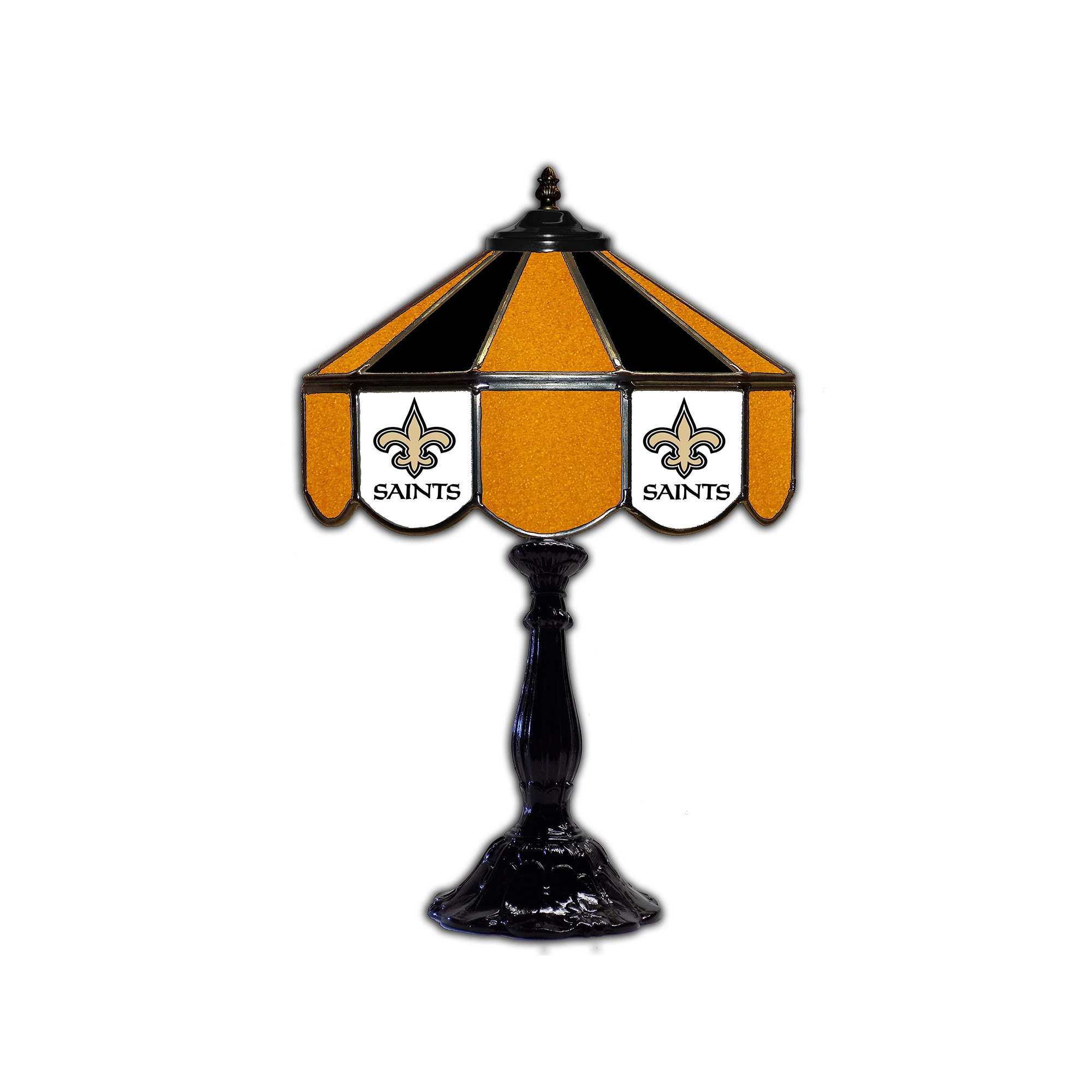 "New Orleans Saints 21"" Glass Table Lamp"