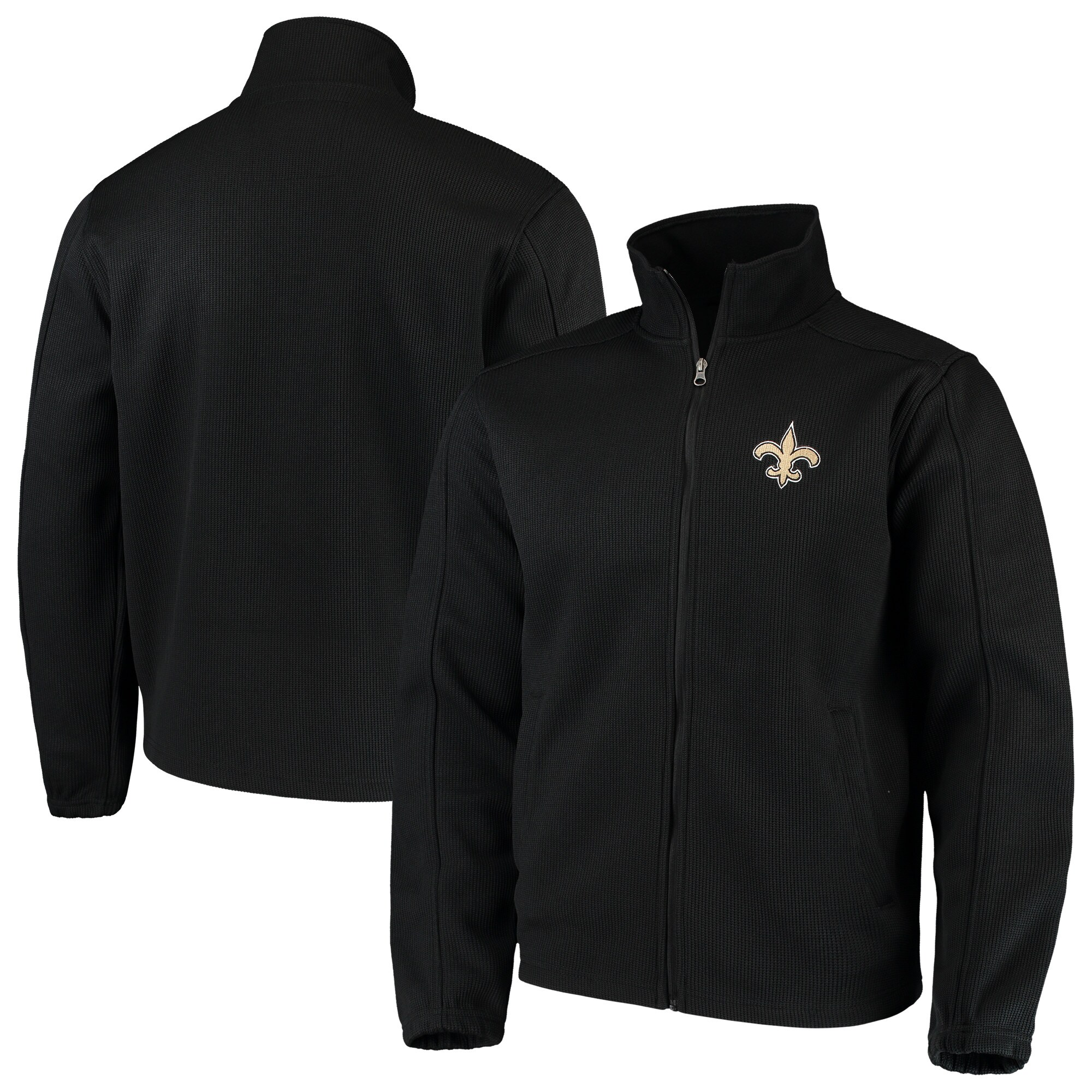New Orleans Saints G-III Sports by Carl Banks QR Audible Full-Zip Fleece Jacket - Black