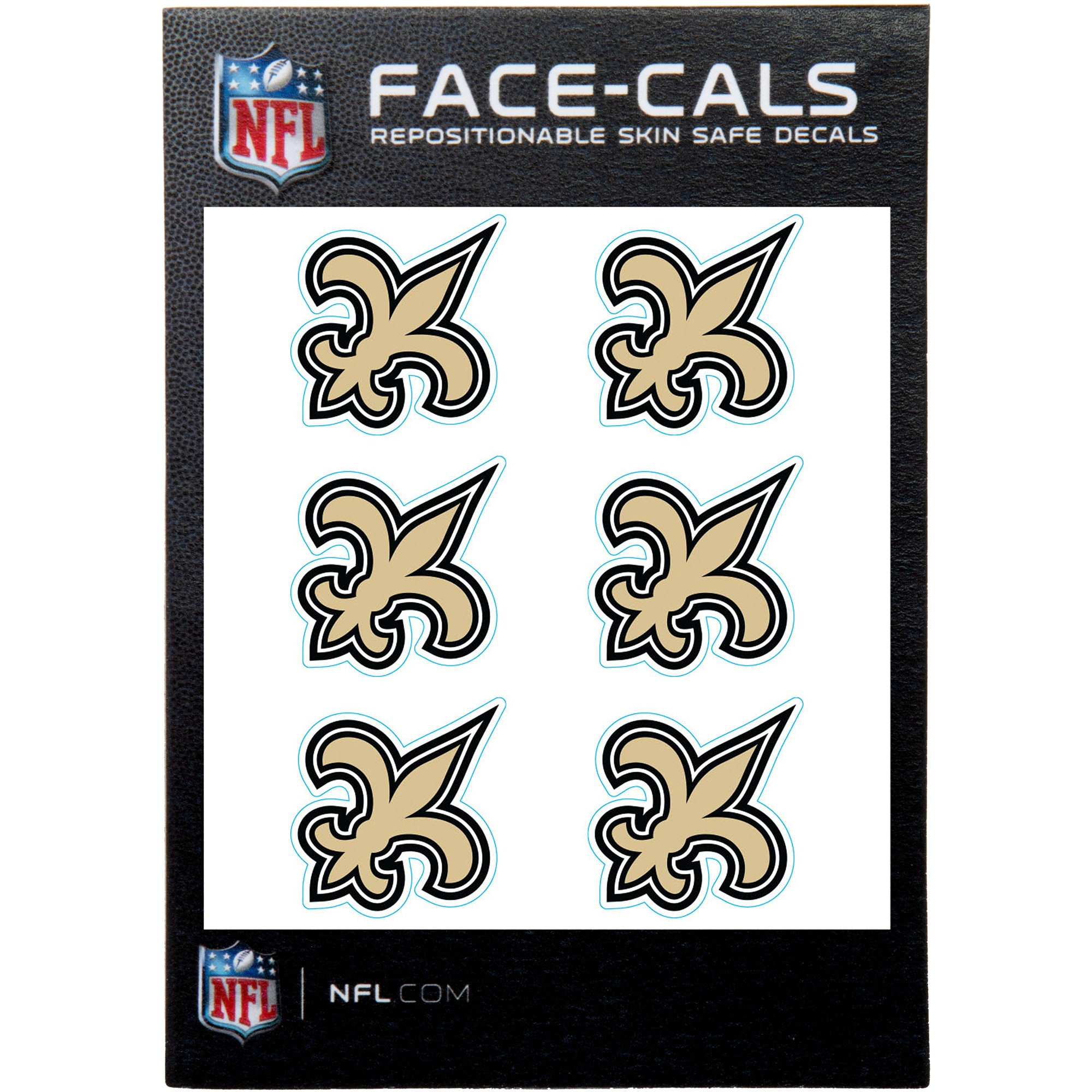 New Orleans Saints 6-Pack Mini-Cals Face Decals