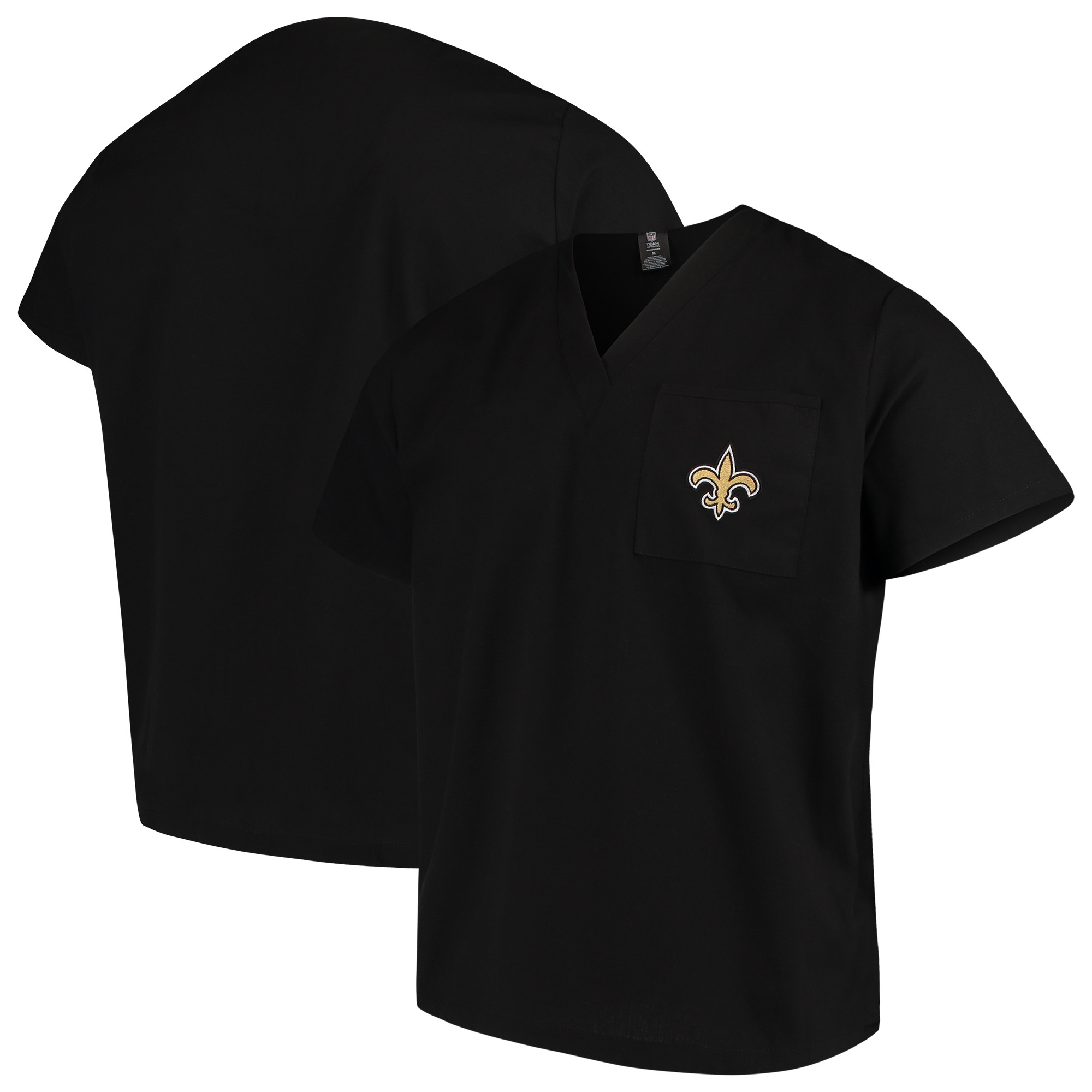 New Orleans Saints Concepts Sport Scrub Top - Black