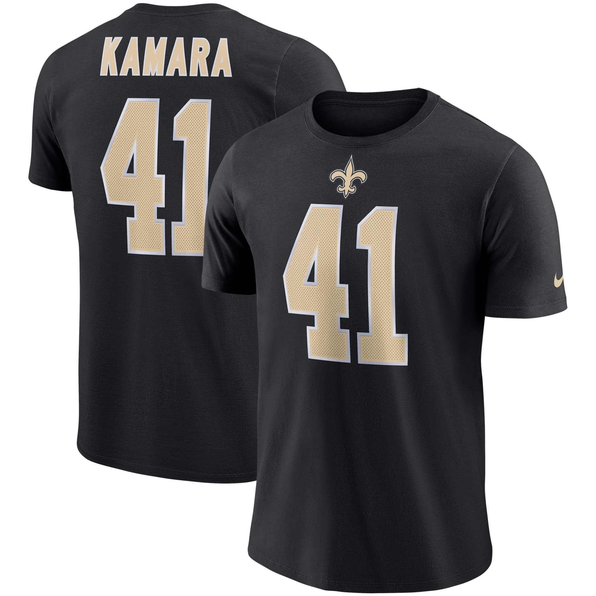 Alvin Kamara New Orleans Saints Nike Dri-FIT Cotton Player Pride 3.0 Name & Number T-Shirt - Black