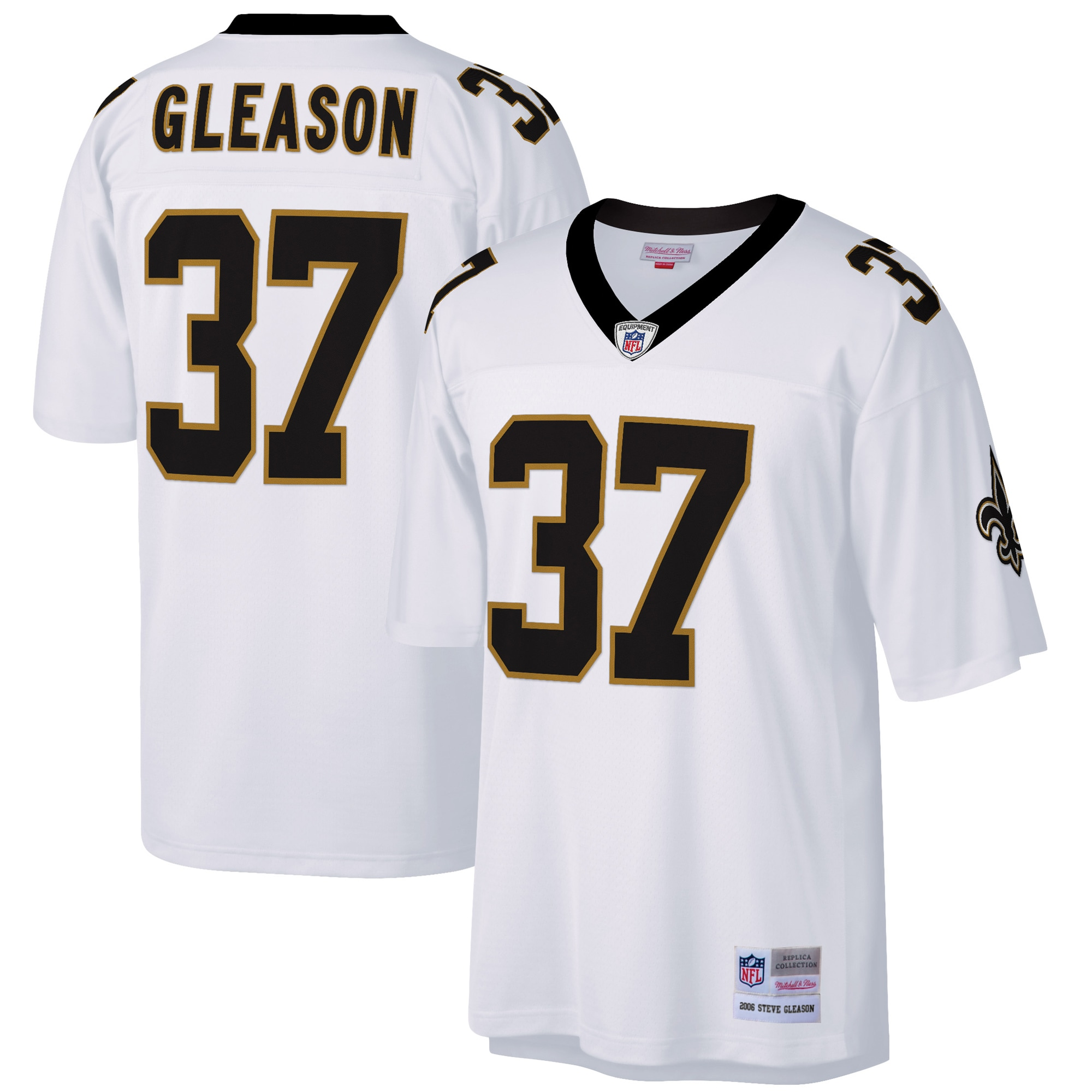 Steve Gleason New Orleans Saints Mitchell & Ness Retired Player Legacy Replica Jersey - White
