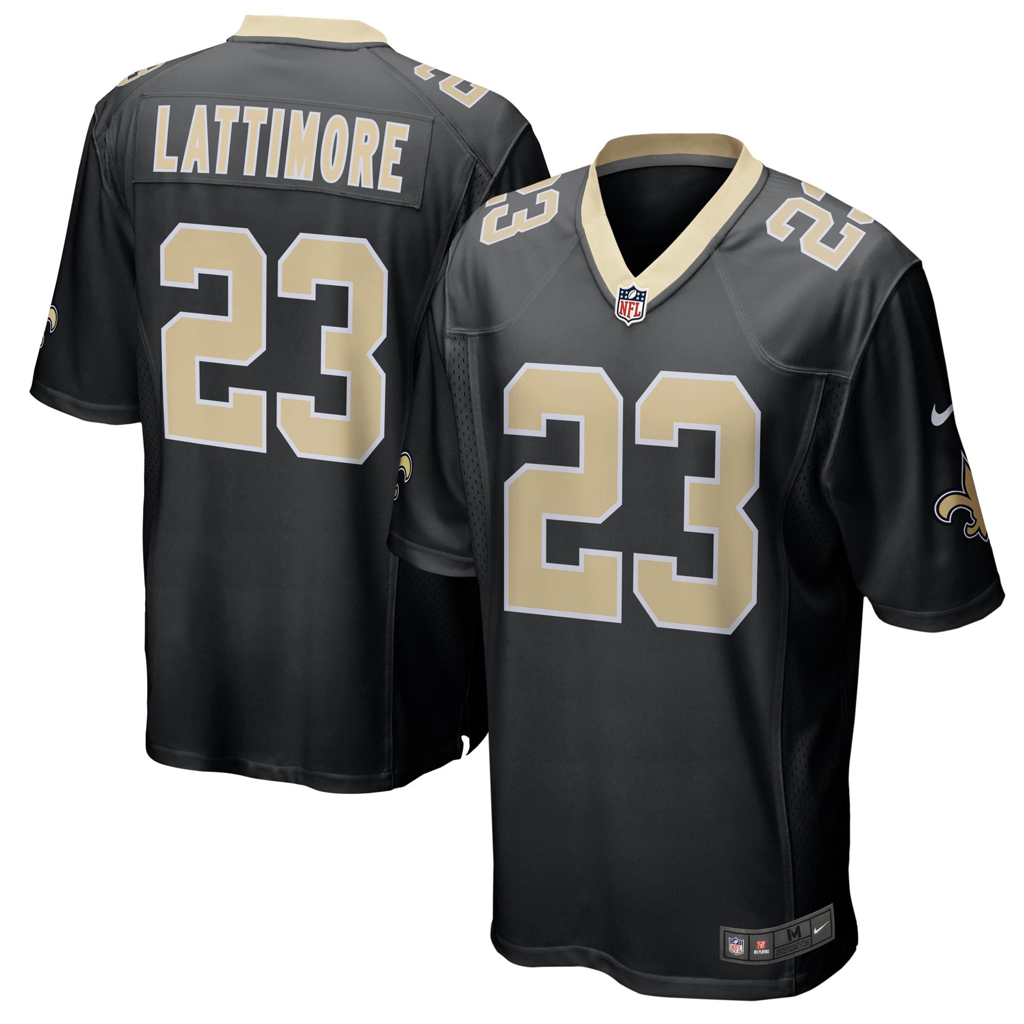 Marshon Lattimore New Orleans Saints Nike Game Player Jersey - Black
