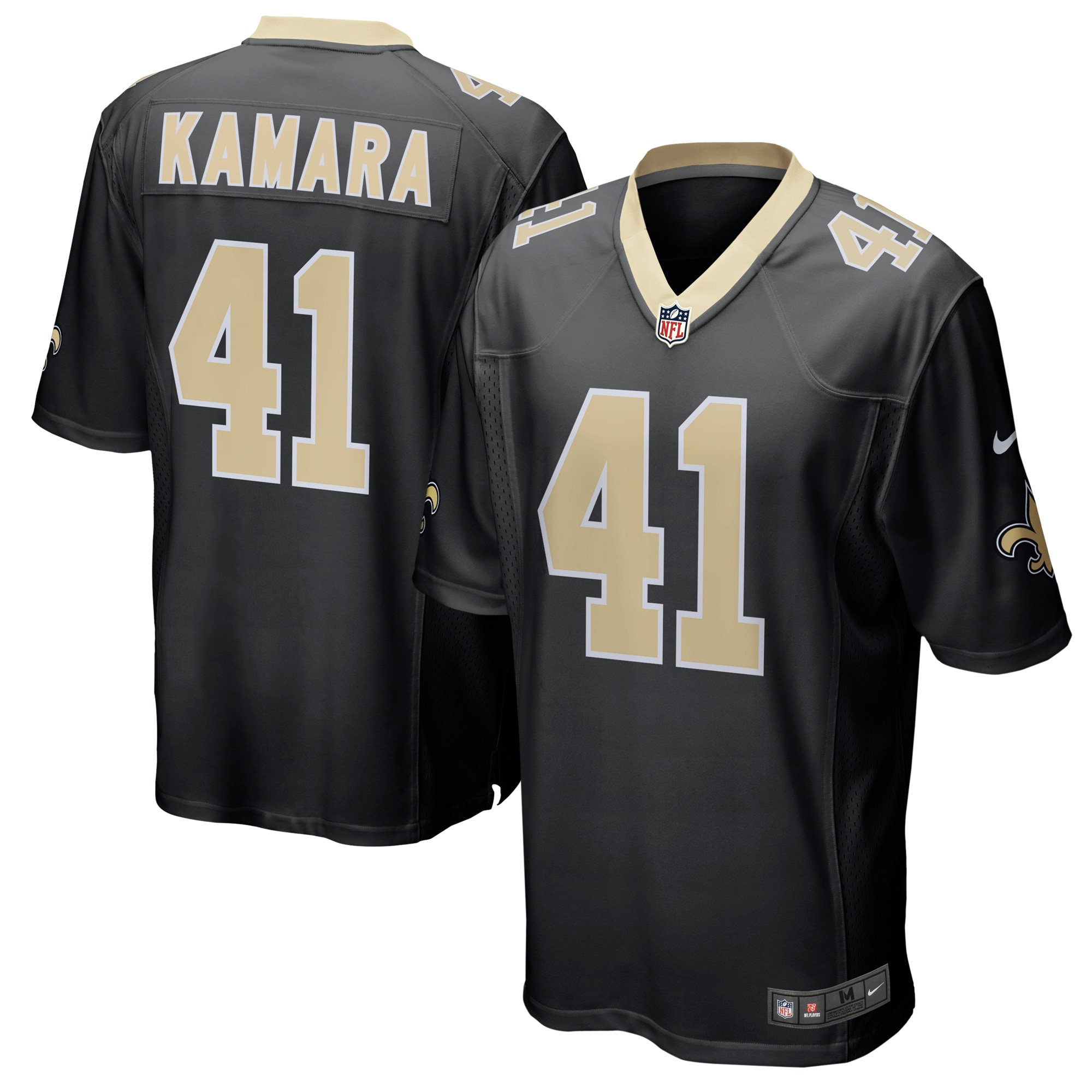 Alvin Kamara New Orleans Saints Nike Game Player Jersey - Black