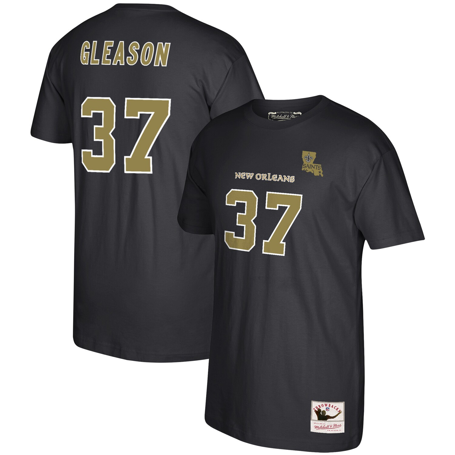 Steve Gleason New Orleans Saints Mitchell & Ness 2006 Retired Player Name & Number T-Shirt - Black