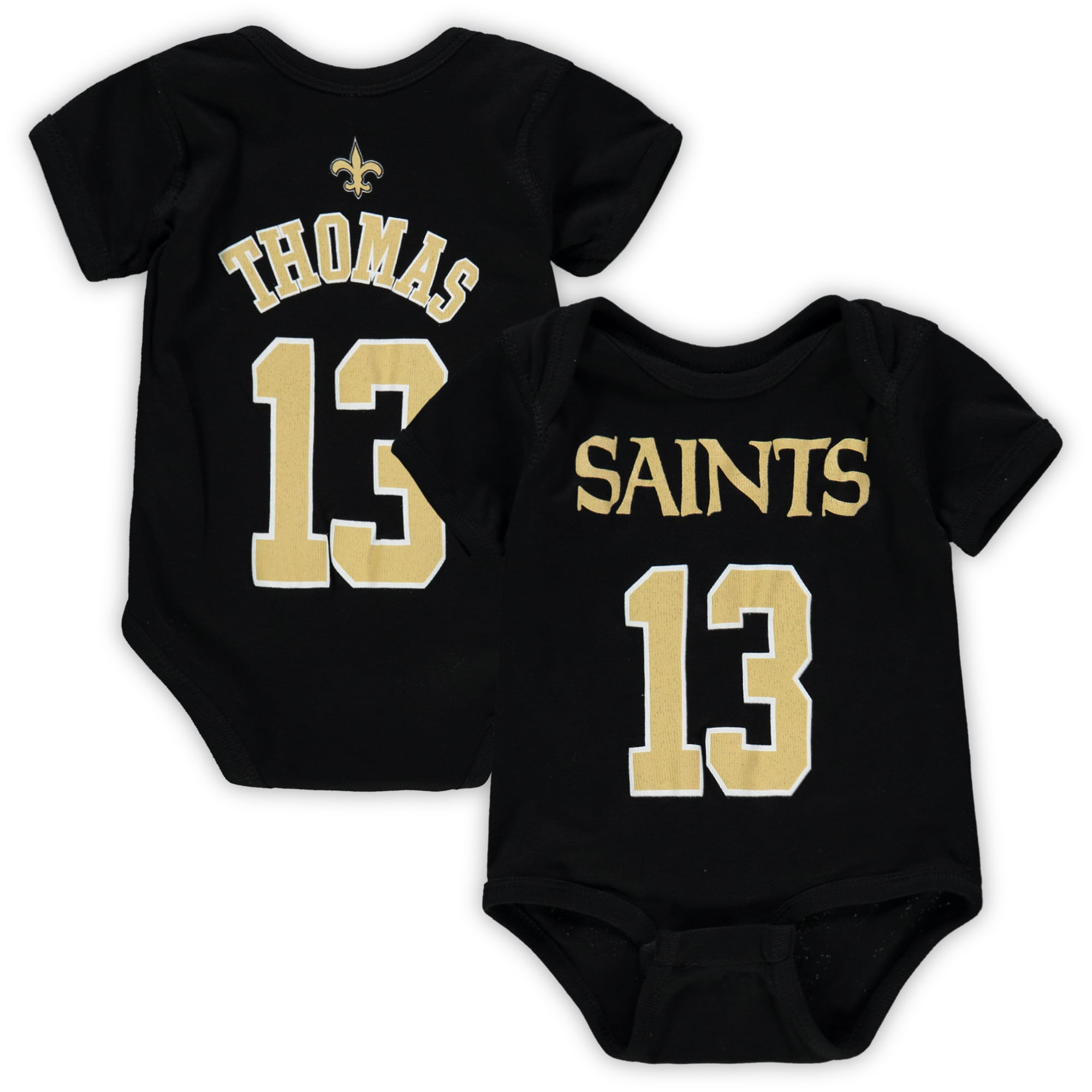 Michael Thomas New Orleans Saints Newborn & Infant Mainliner Name & Number Bodysuit - Black